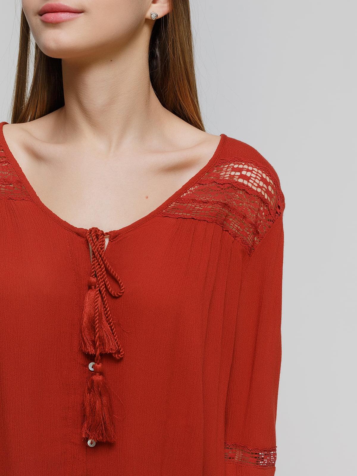 Блуза терракотовая   4628327   фото 3