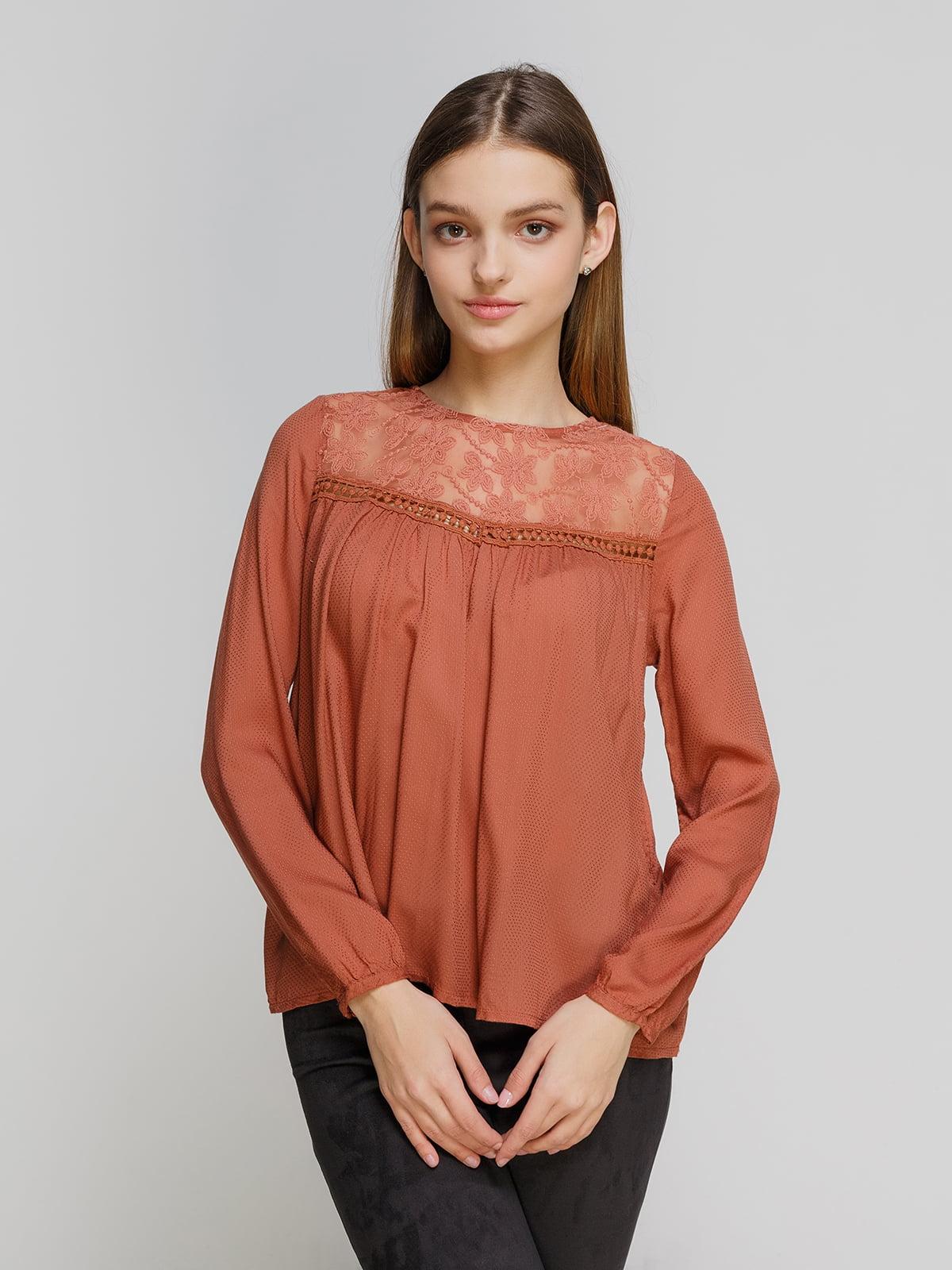 Блуза терракотовая   4628446