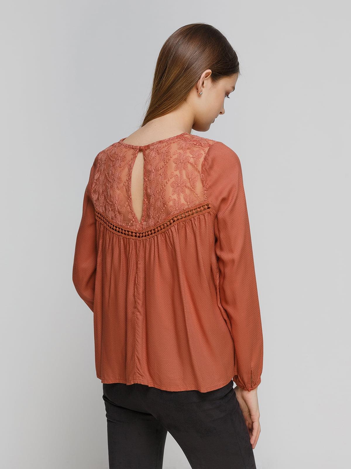 Блуза терракотовая   4628446   фото 2