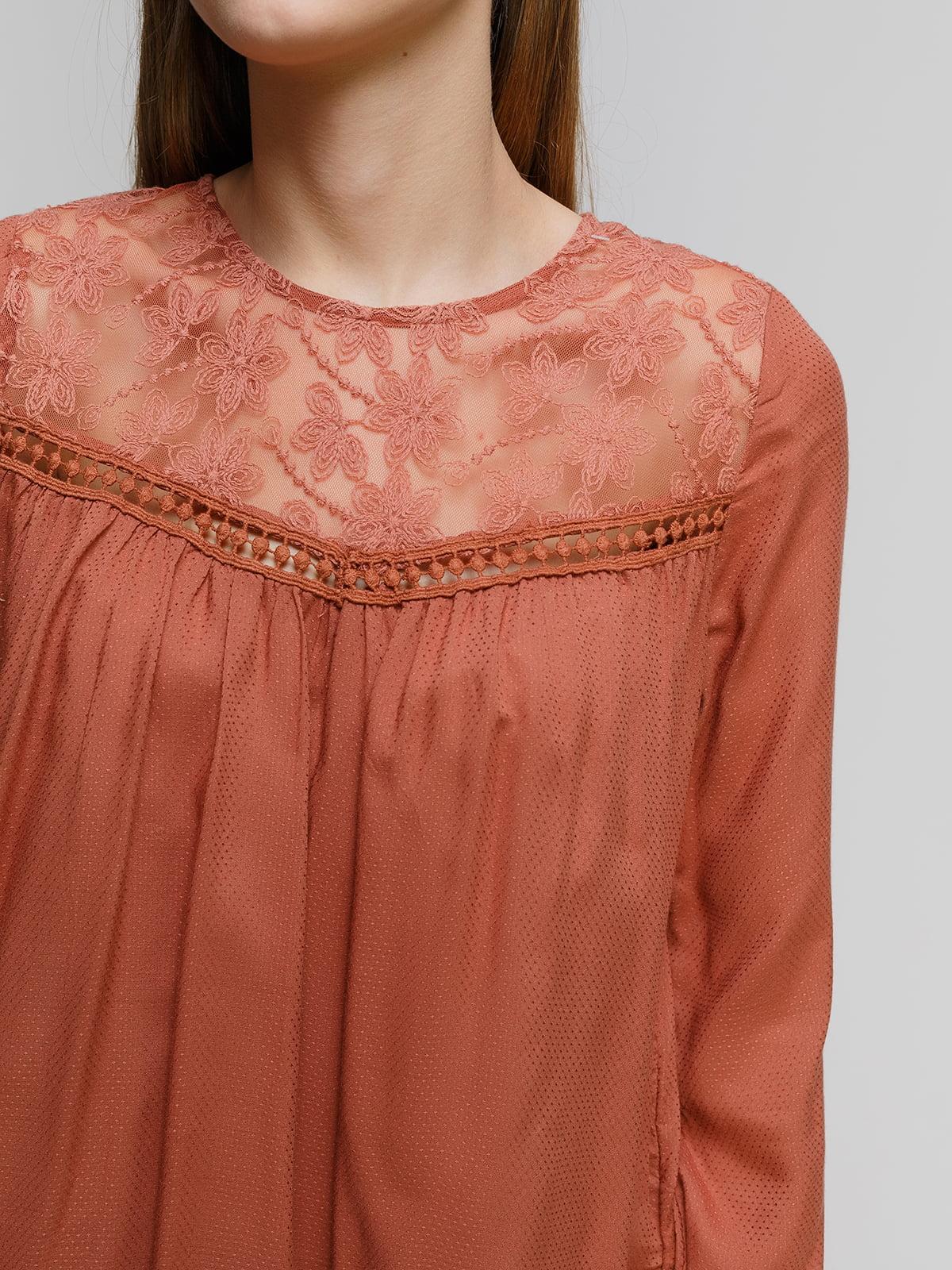 Блуза терракотовая   4628446   фото 3