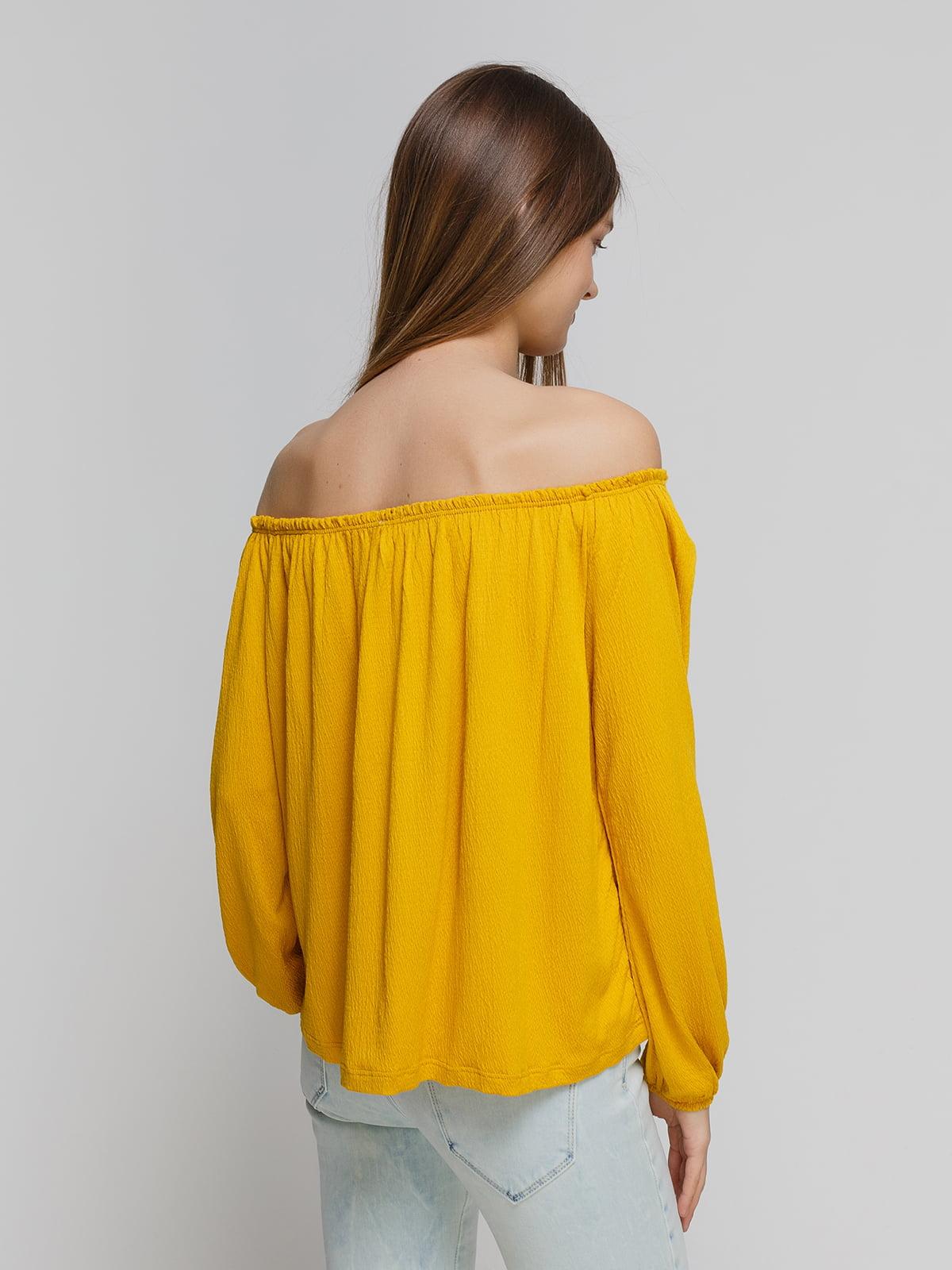 Блуза желтая   4545859   фото 2