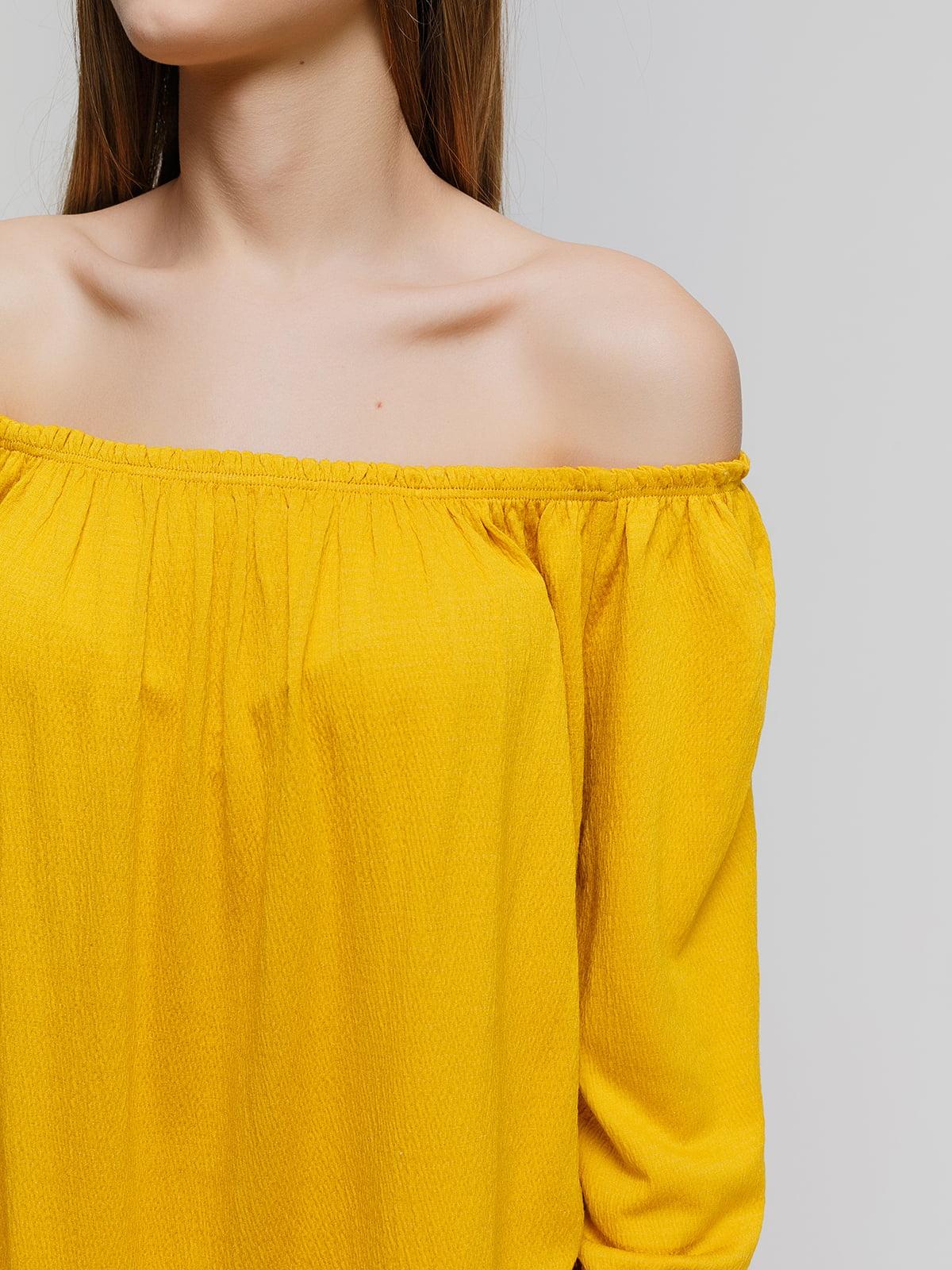 Блуза желтая   4545859   фото 3