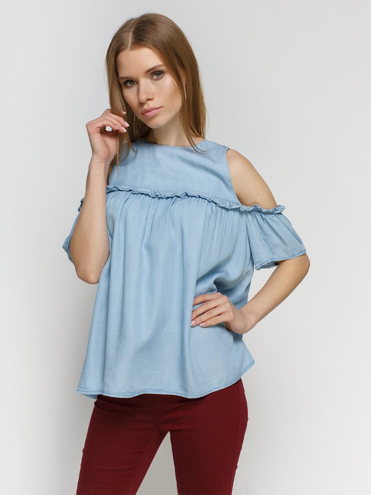 Блуза голубая   4553761