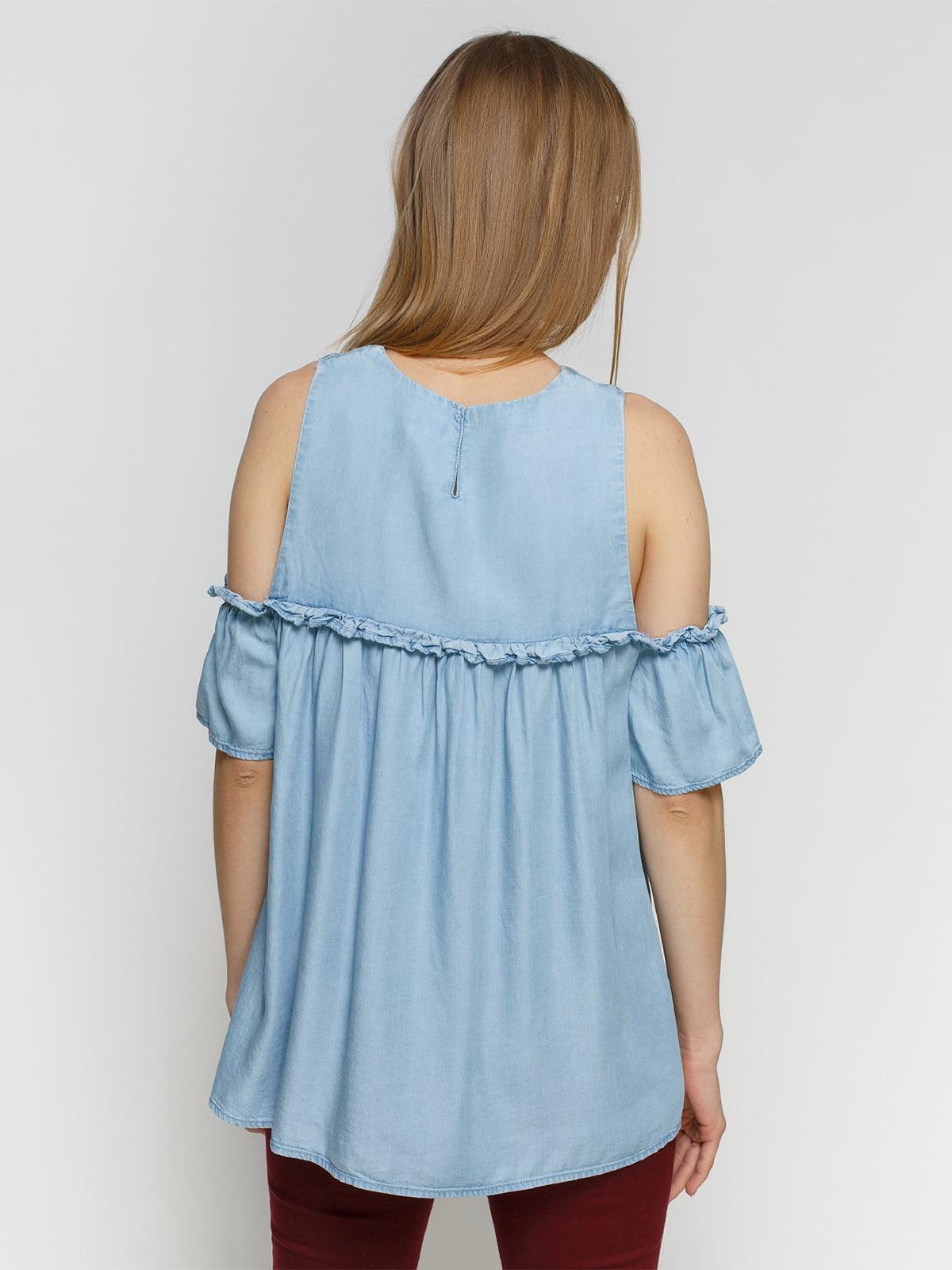 Блуза голубая   4553761   фото 2