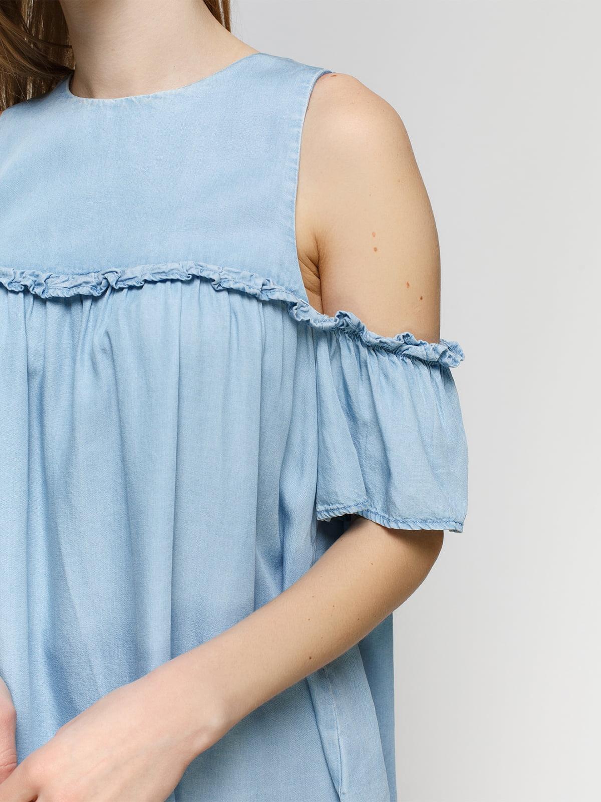 Блуза голубая   4553761   фото 3