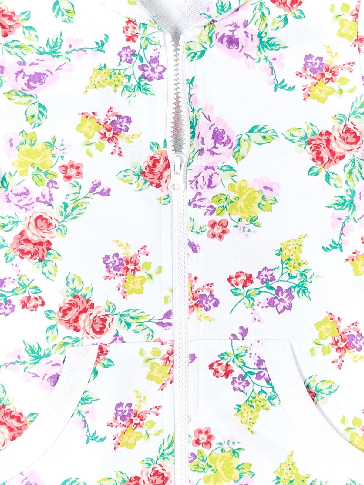 Толстовка біла в квітковий принт | 4864464 | фото 3