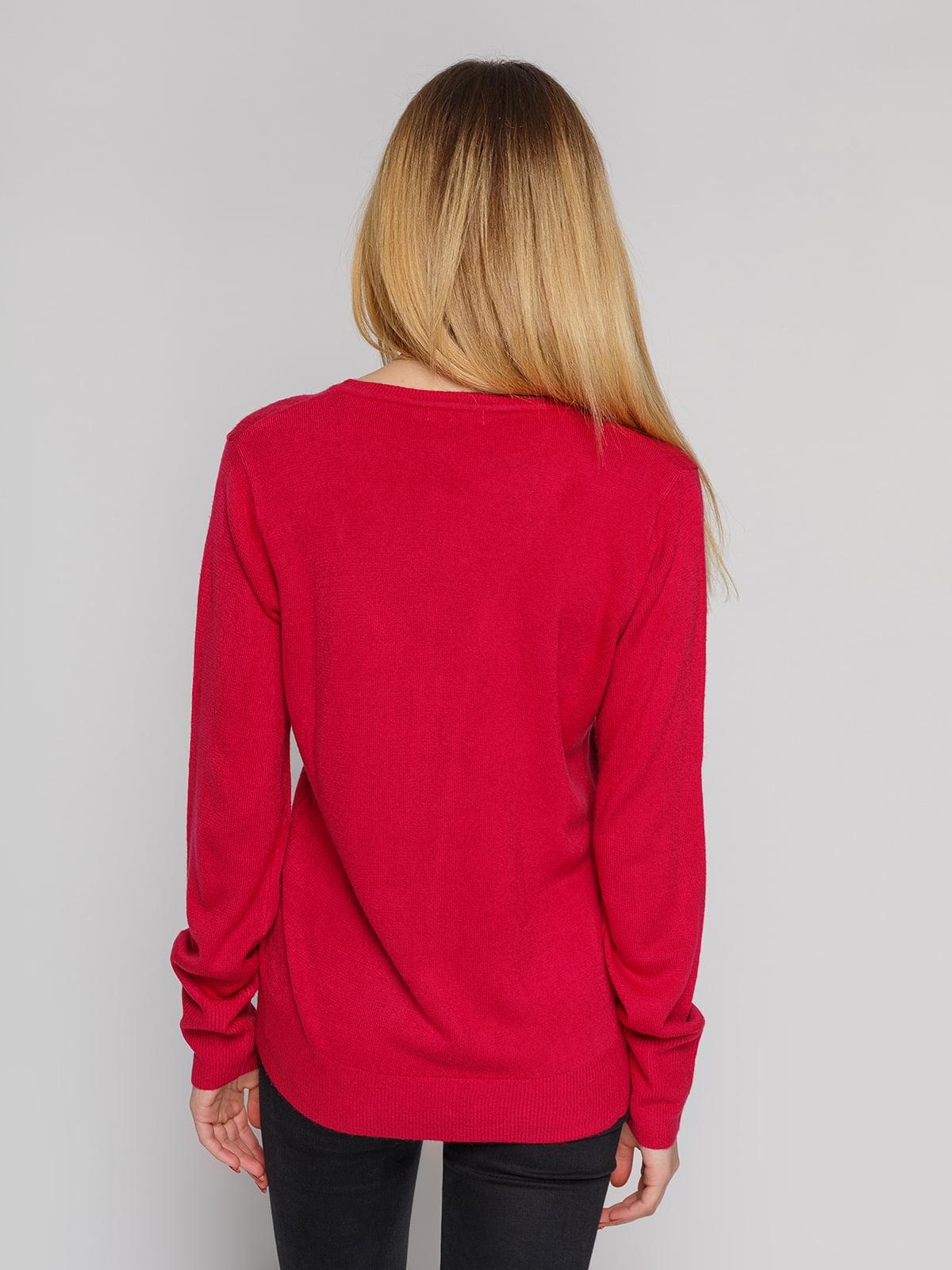 Кофта бордово-малиновая | 4855286 | фото 2