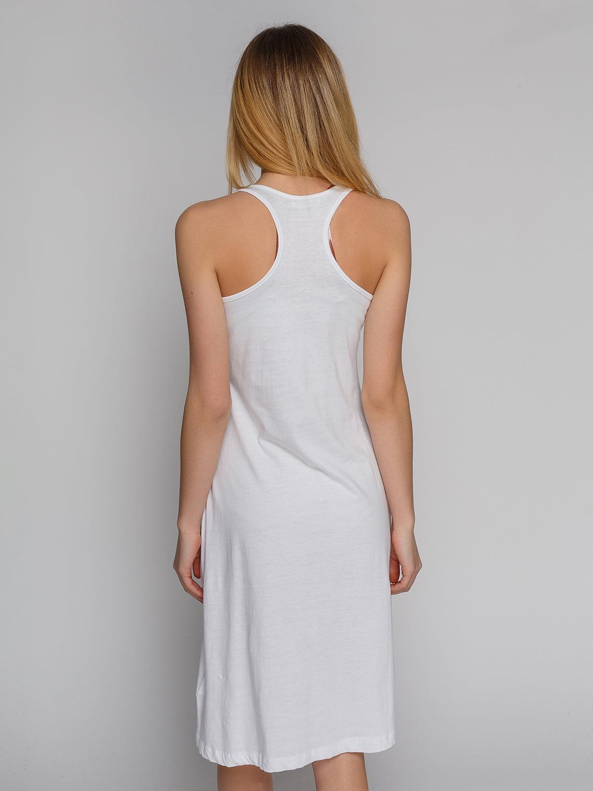 Сукня біла з принтом | 4855313 | фото 2