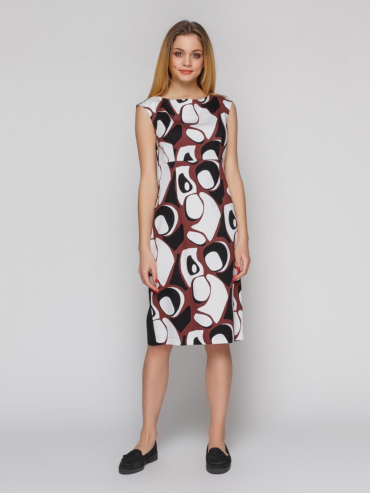Платье абстрактной расцветки   4855345