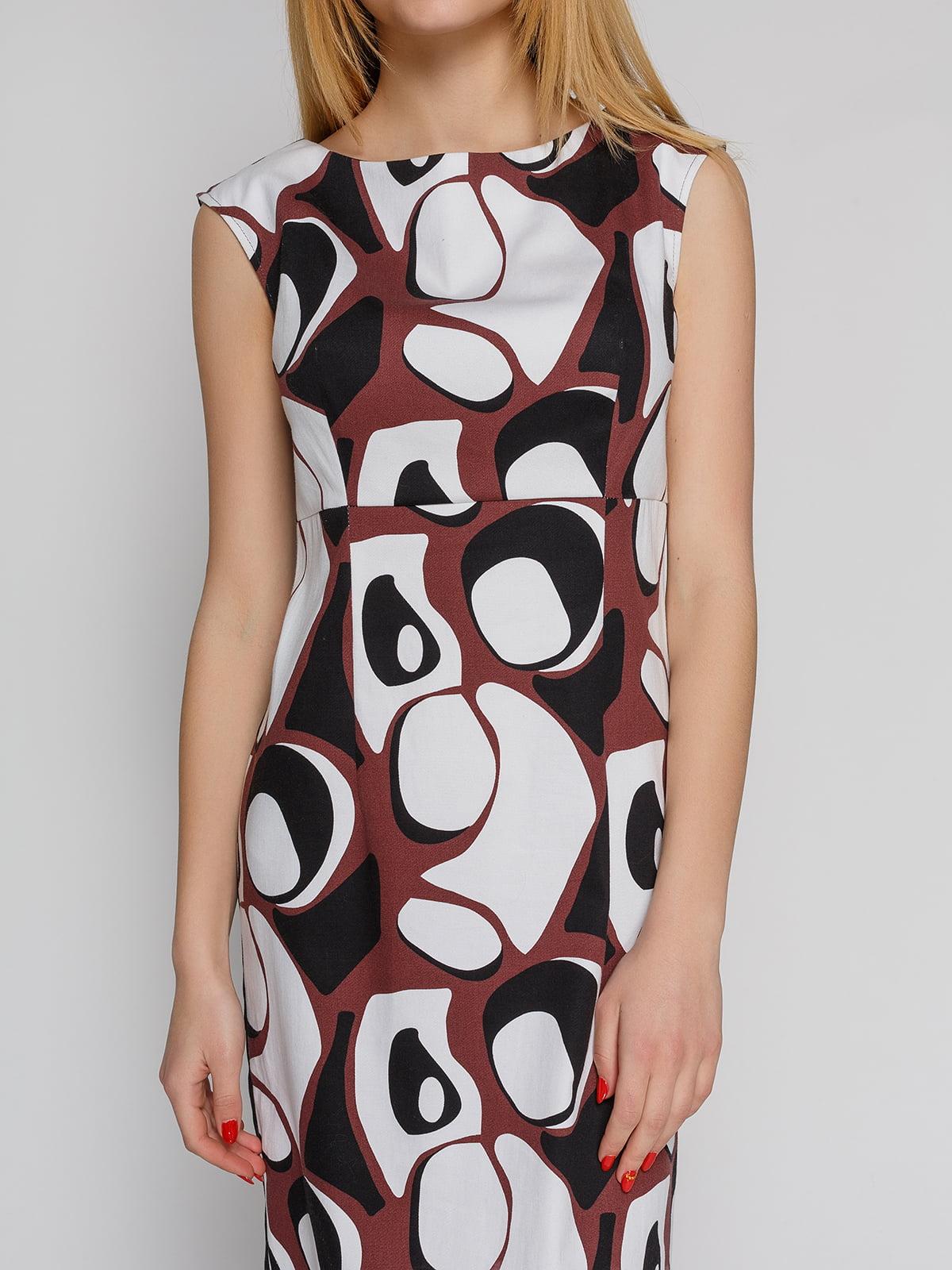 Платье абстрактной расцветки   4855345   фото 3