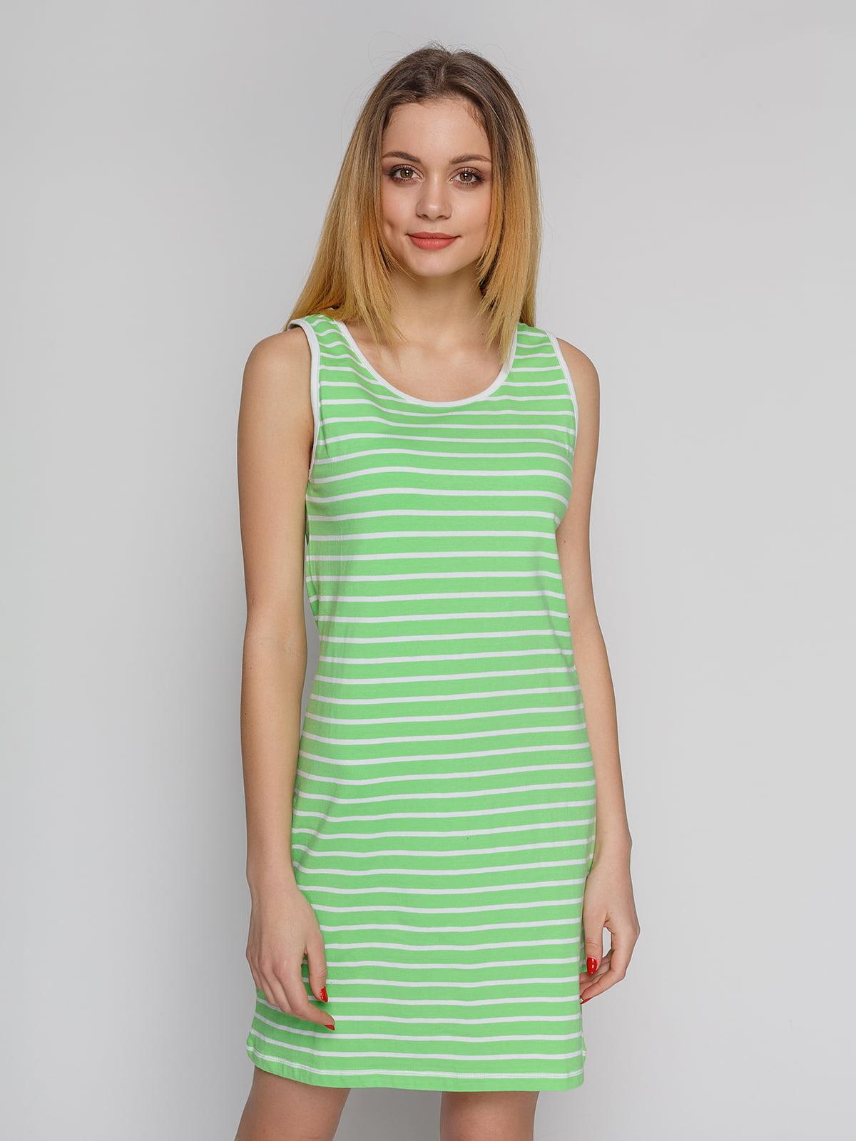 Сукня зелена в смужку | 4855312