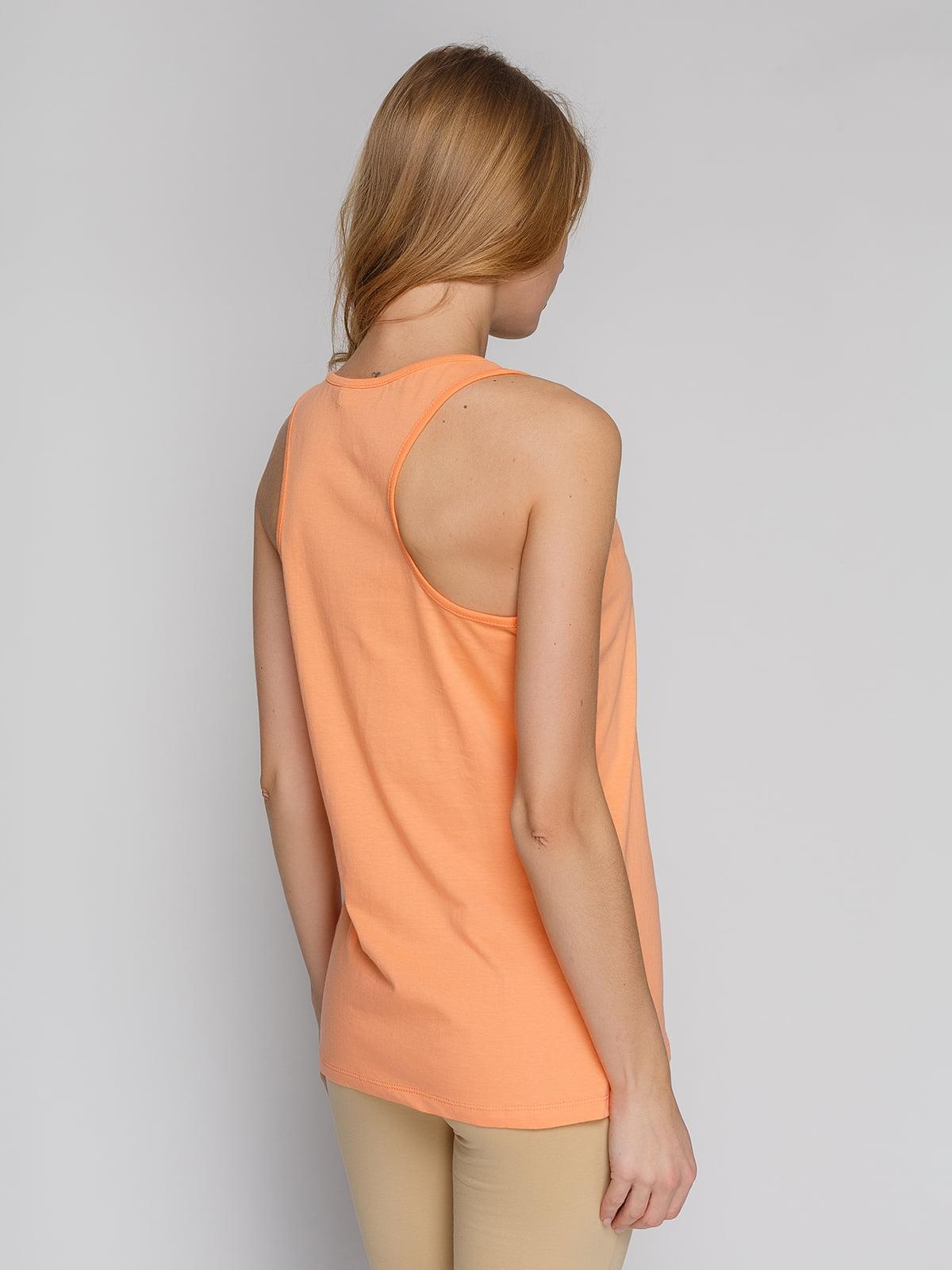 Майка помаранчева з принтом | 4855112 | фото 2