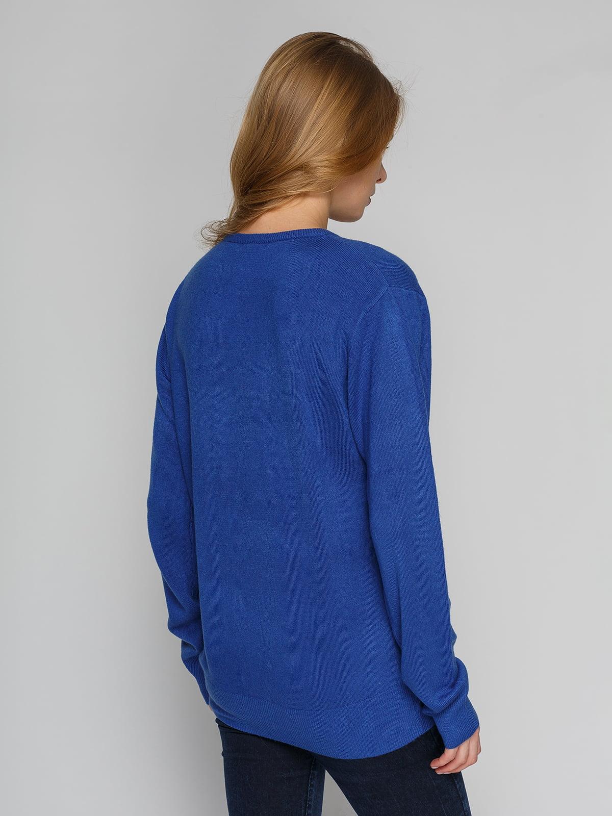 Пуловер синій | 4855276 | фото 2