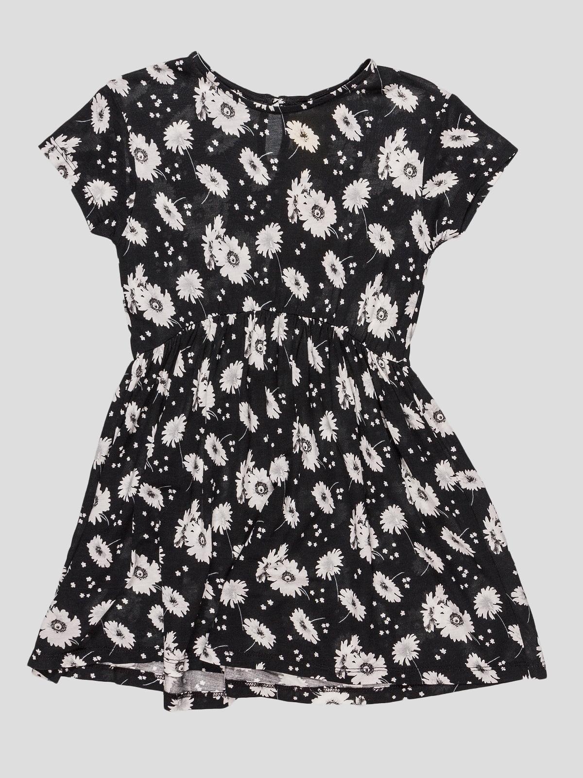 Сукня чорна в квітковий принт   4506876