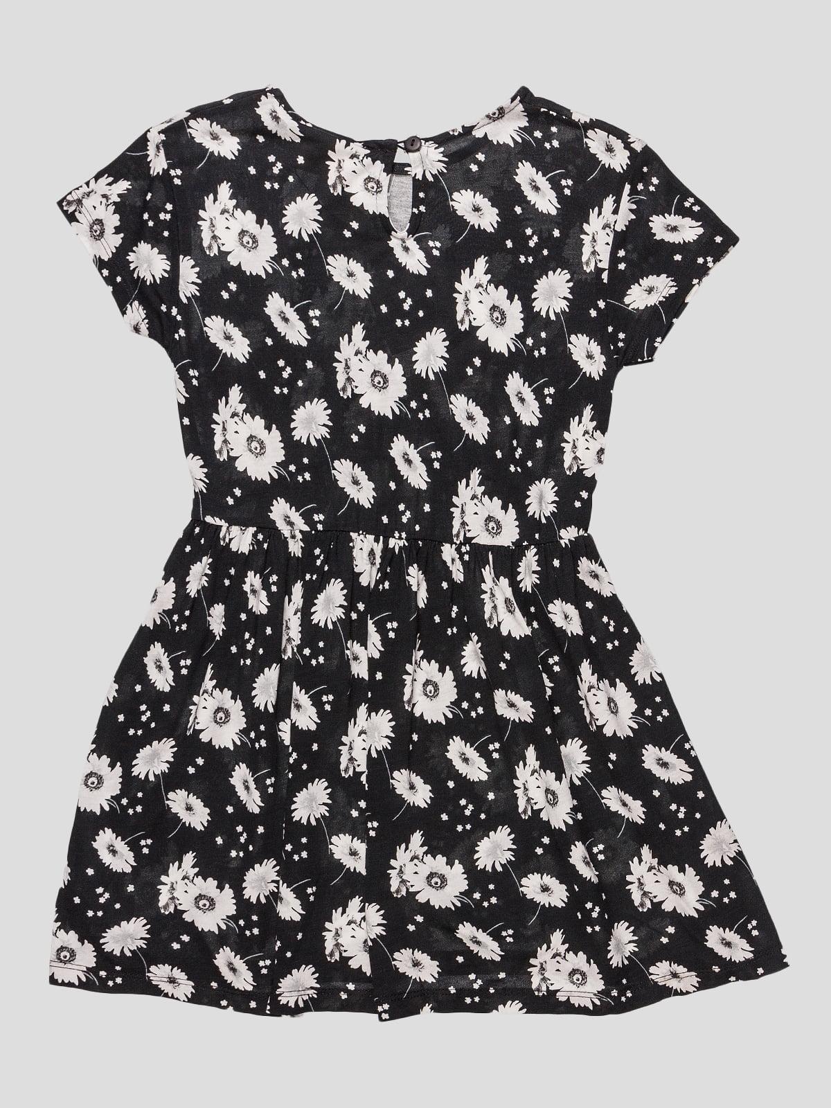 Сукня чорна в квітковий принт   4506876   фото 2