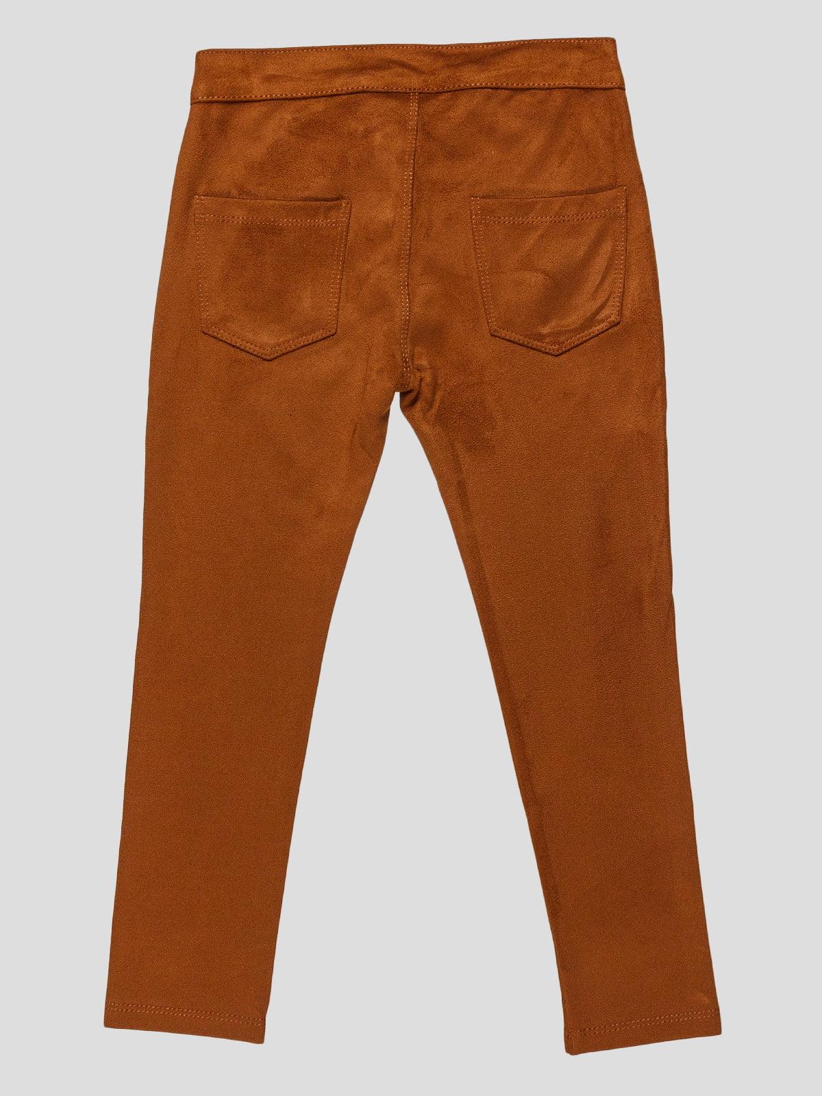 Штани коричневі | 3265521 | фото 2