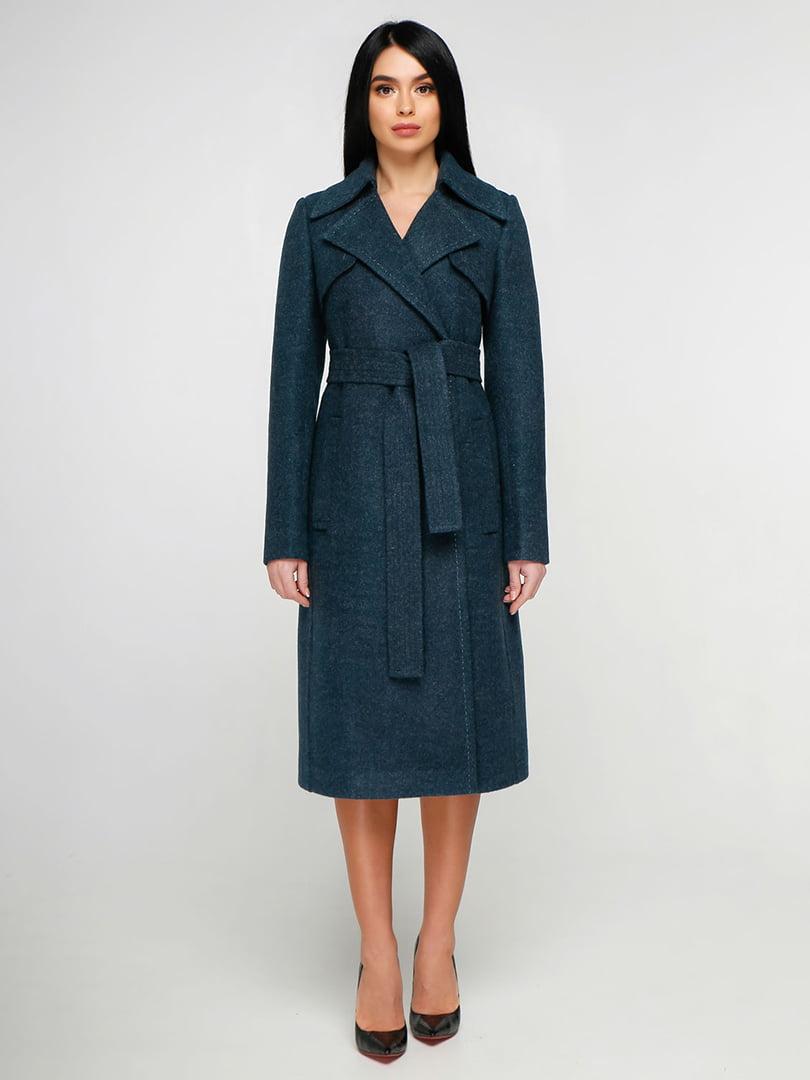 Пальто смарагдового кольору | 4886136