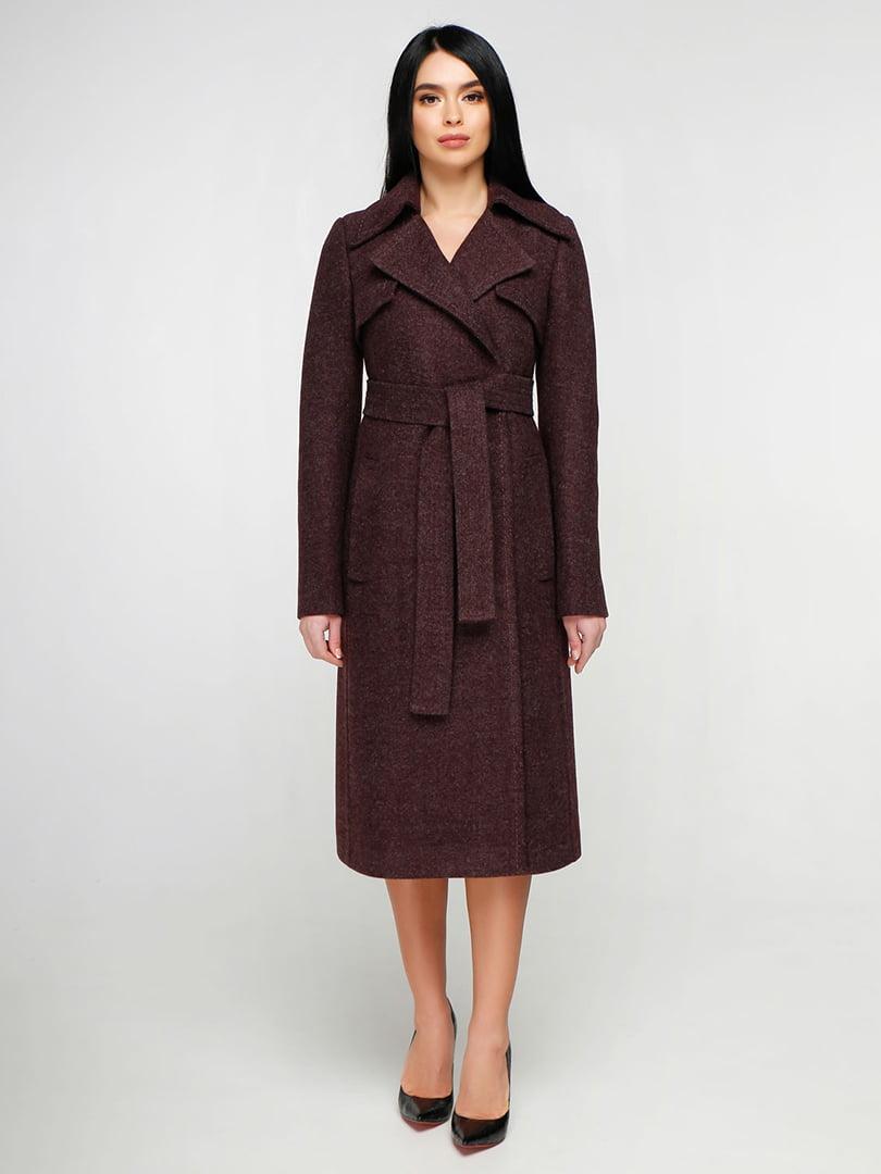 Пальто бордовое | 4886137