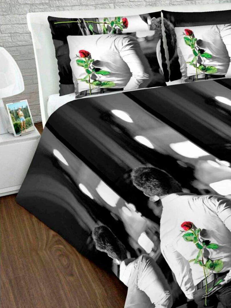 Комплект постільної білизни двоспальний (євро) | 4762642 | фото 2