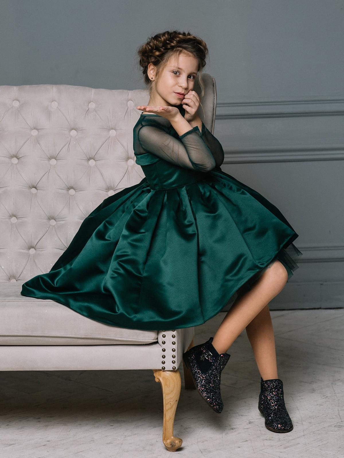 Платье изумрудного цвета   4886278   фото 5