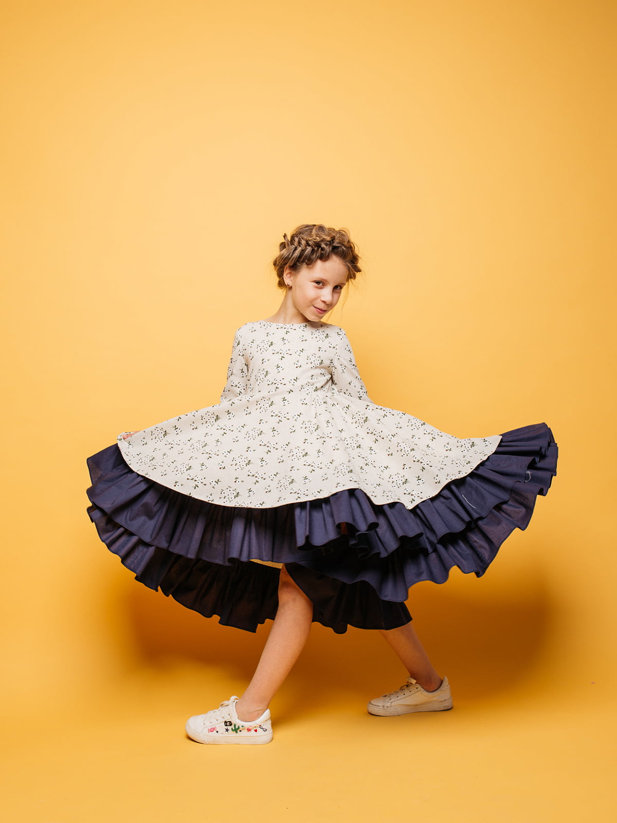 Платье в цветочный принт | 4886286