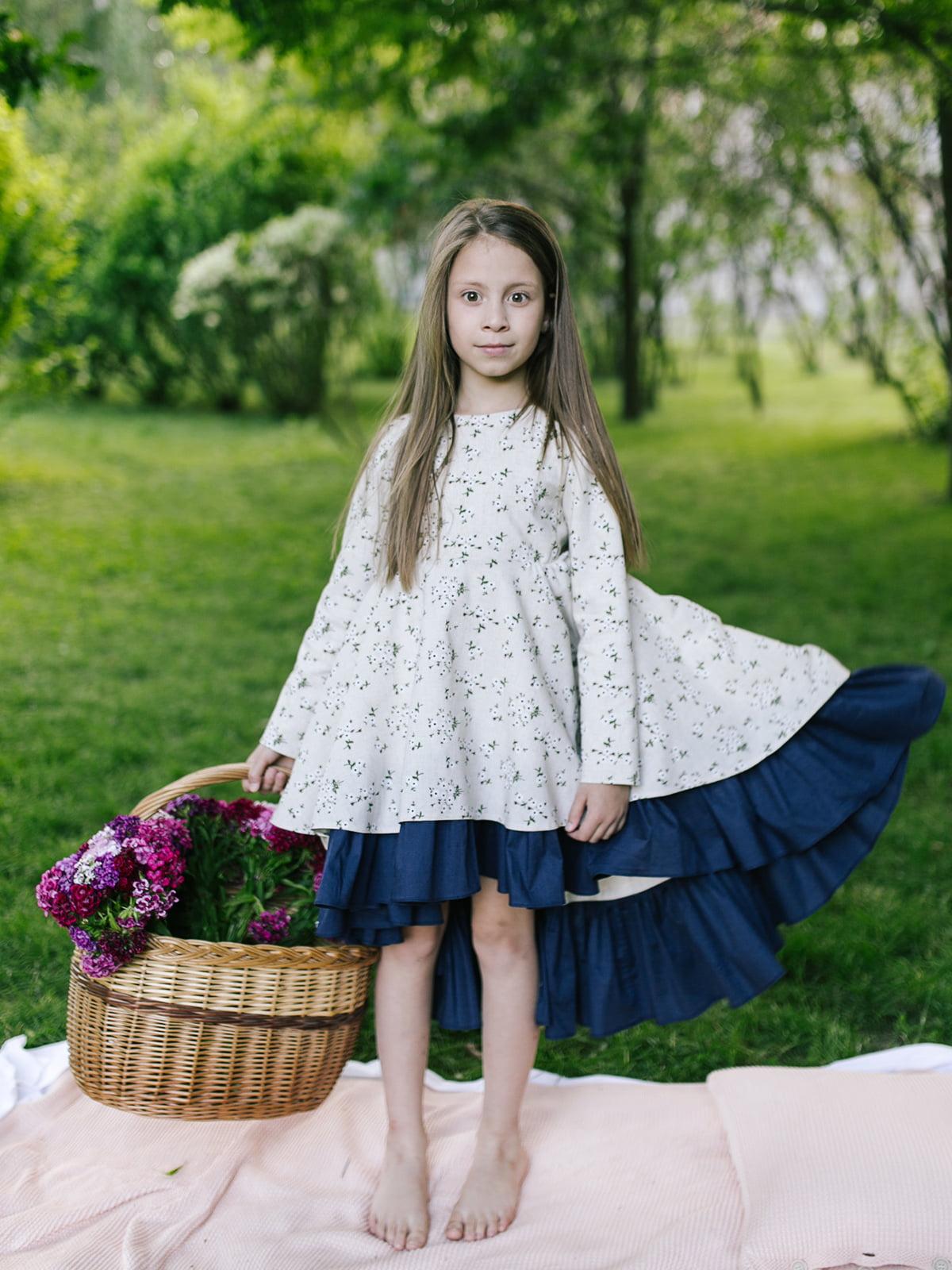 Платье в цветочный принт | 4886286 | фото 3