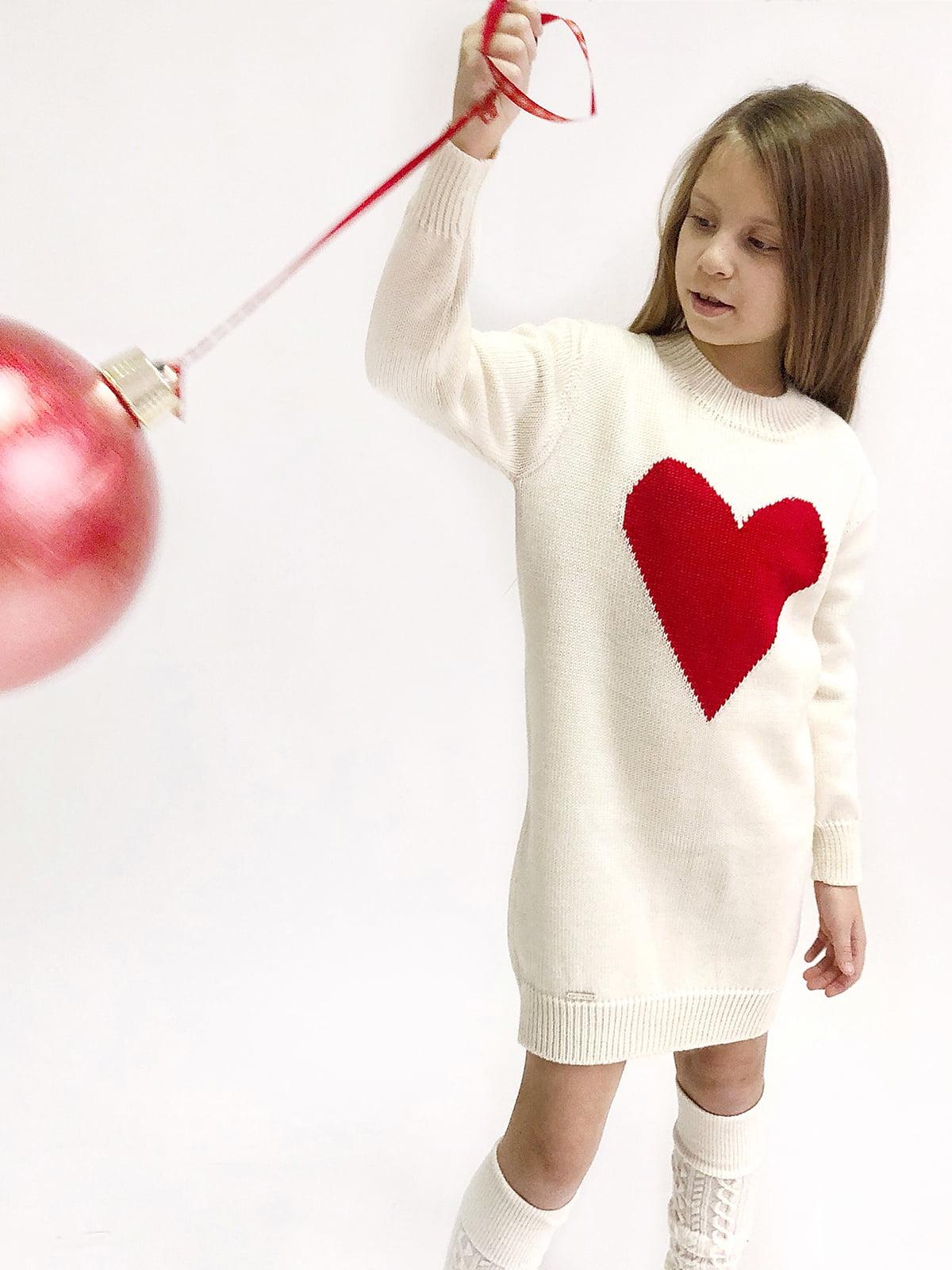 Платье белое с рисунком | 4886299
