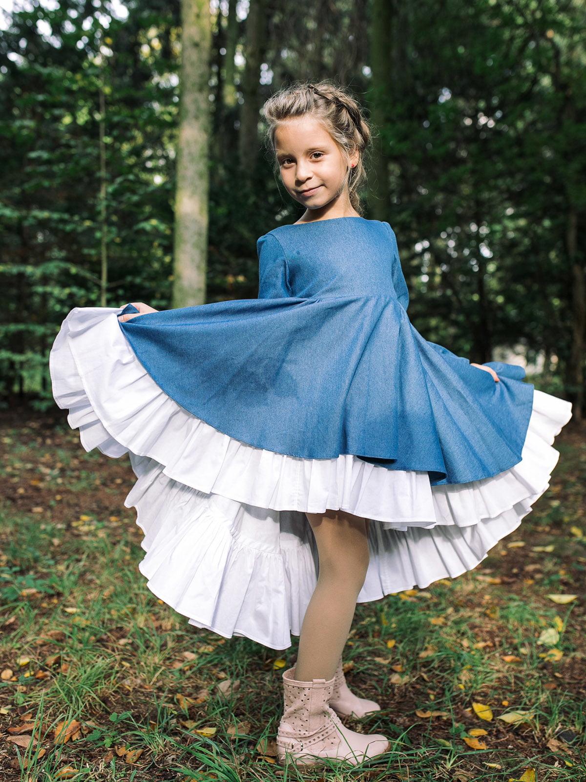 Платье джинсового цвета | 4886321