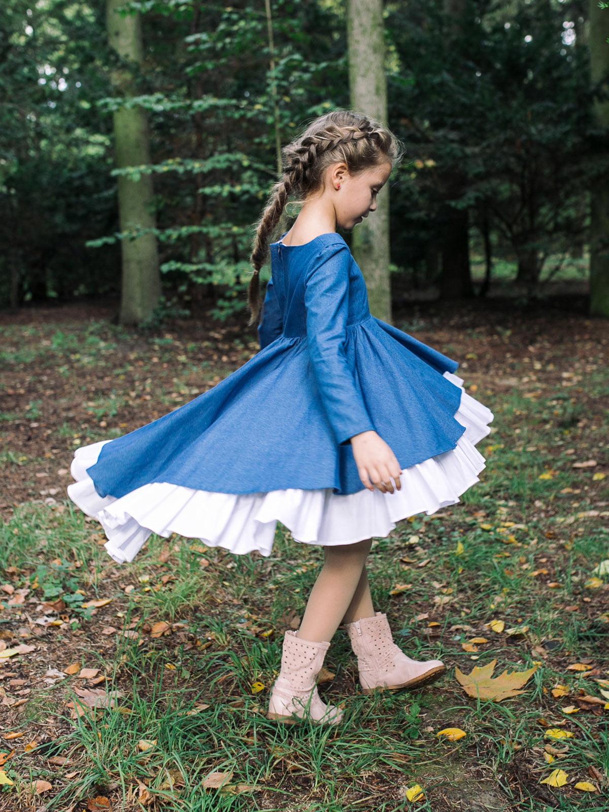 Платье джинсового цвета | 4886321 | фото 3