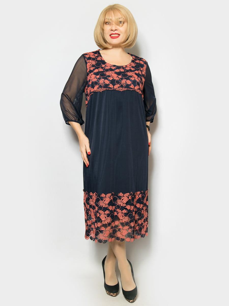 Платье комбинированной расцветки | 4887319