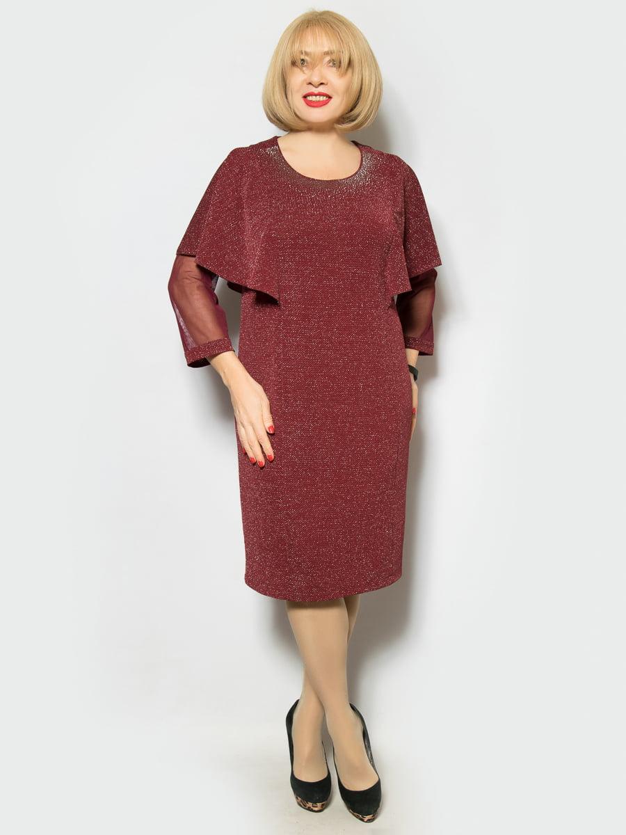 Платье бордовое | 4887323