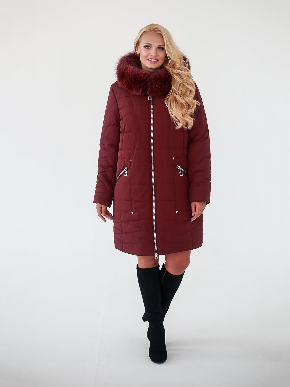 Пальто бордовое | 4888206