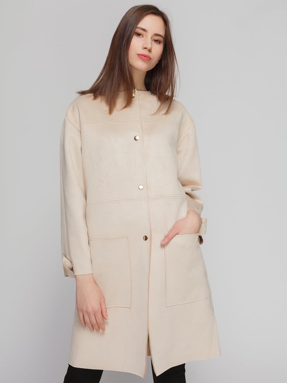 Пальто кремового цвета | 4874351