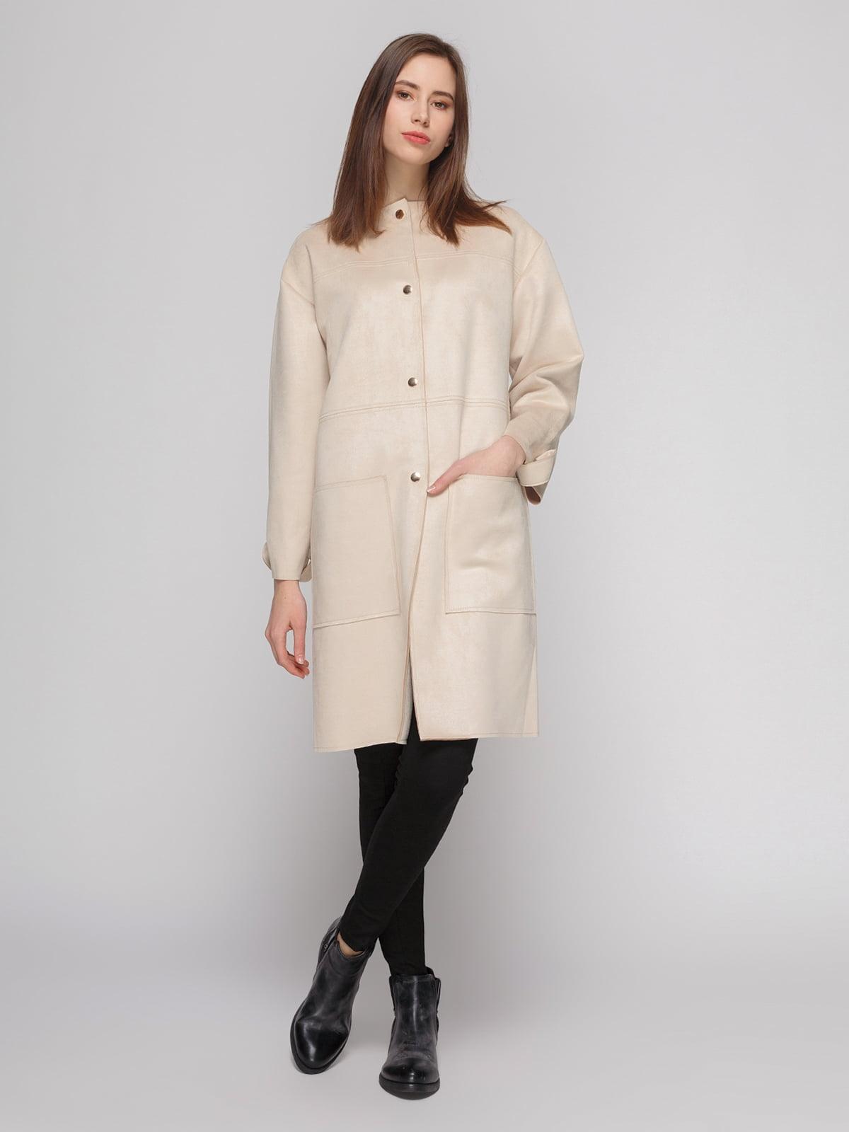 Пальто кремового цвета | 4874351 | фото 2