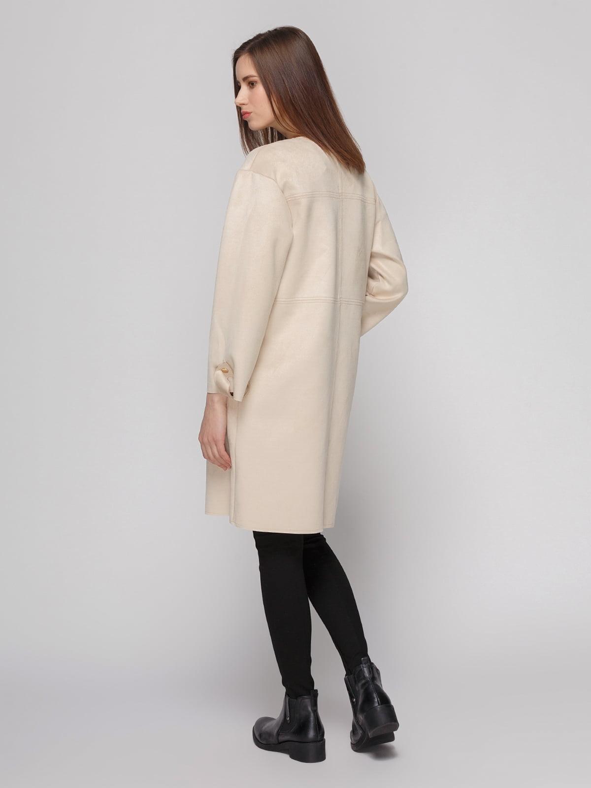 Пальто кремового цвета | 4874351 | фото 3