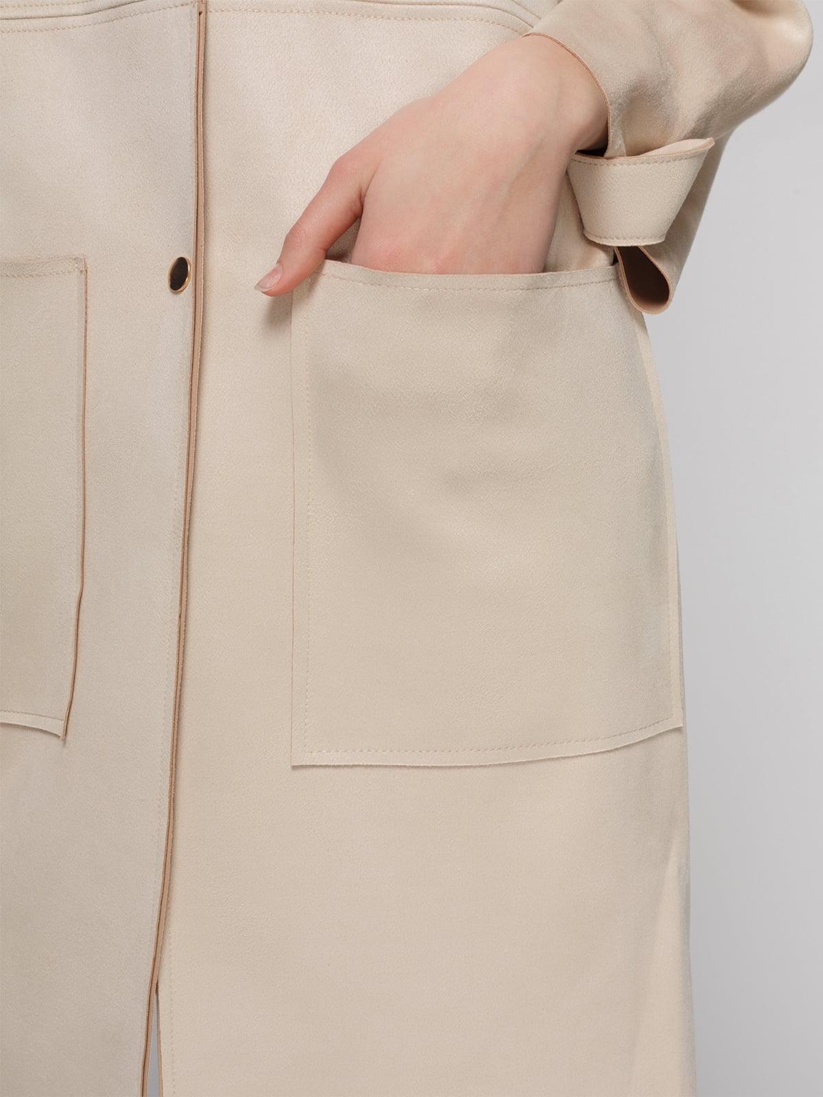 Пальто кремового цвета | 4874351 | фото 4