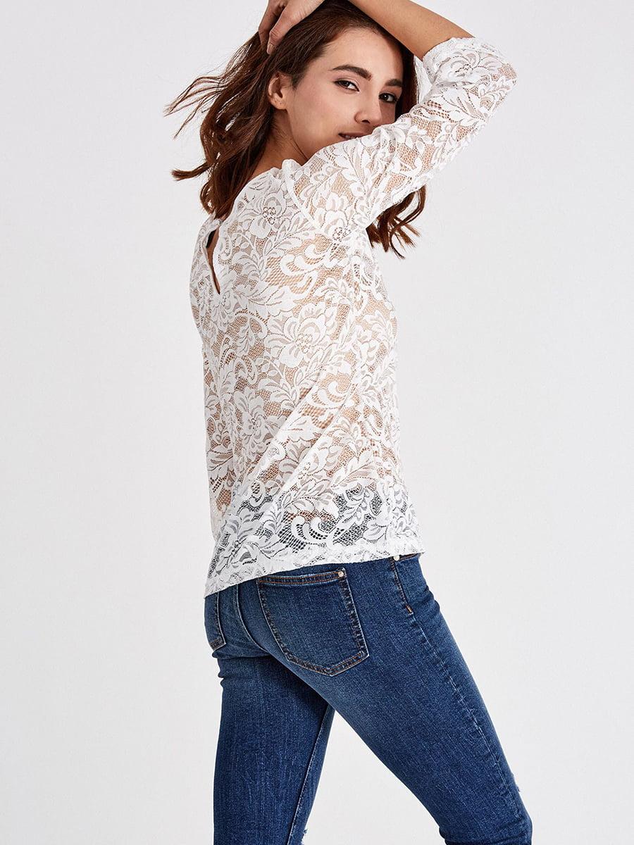 Блуза молочного цвета | 4879418 | фото 3