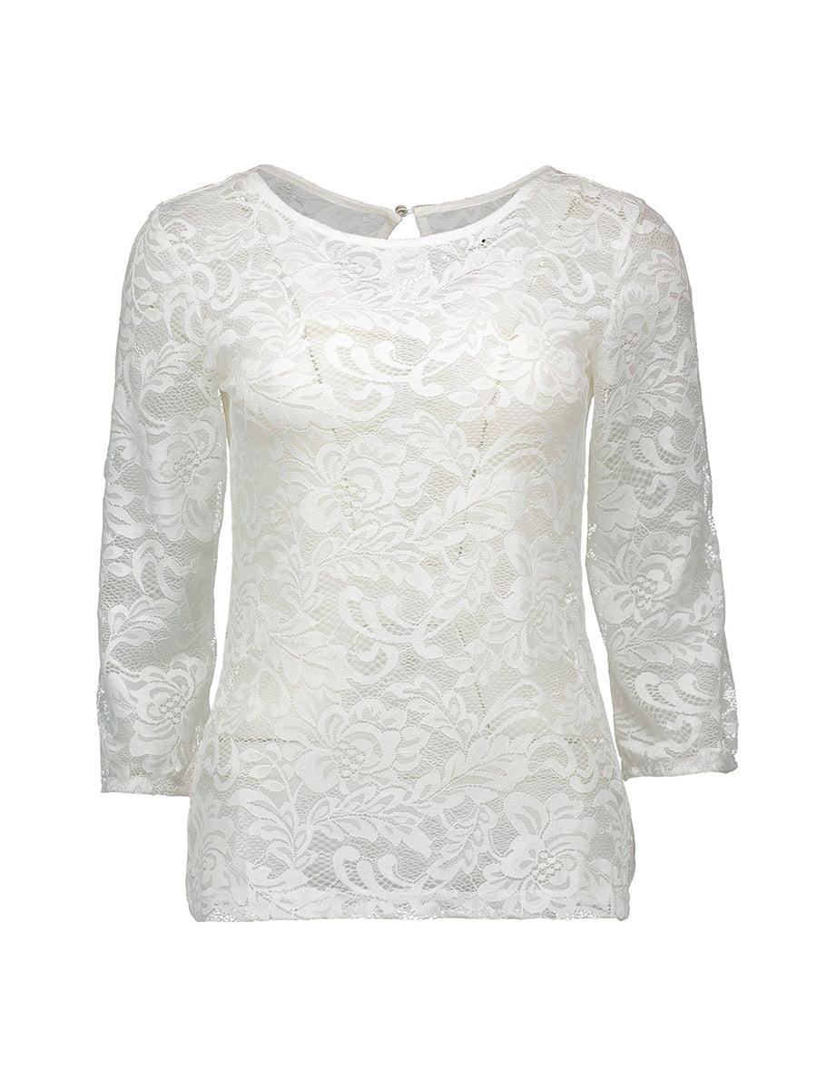 Блуза молочного цвета | 4879418 | фото 5