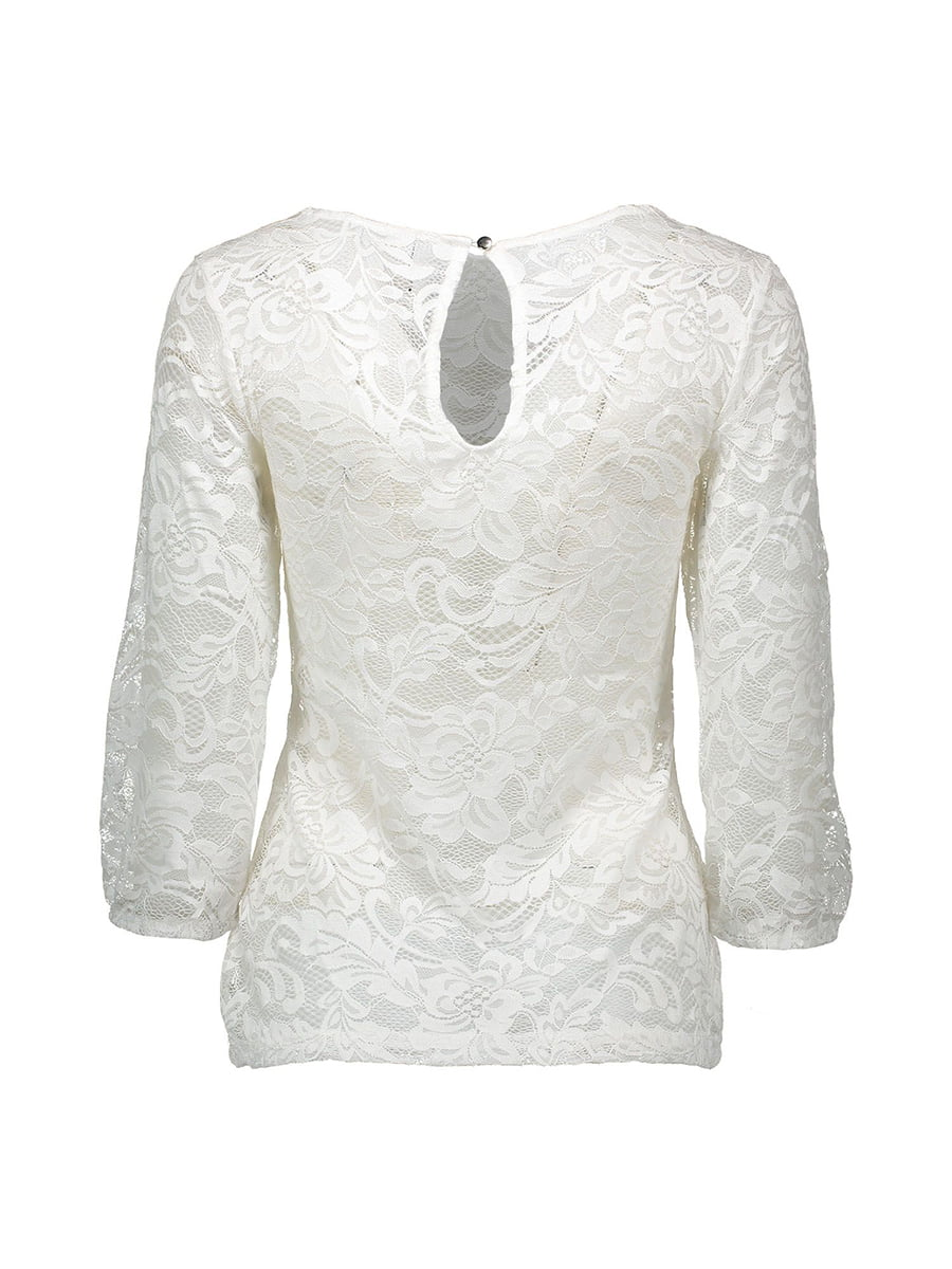 Блуза молочного цвета | 4879418 | фото 6