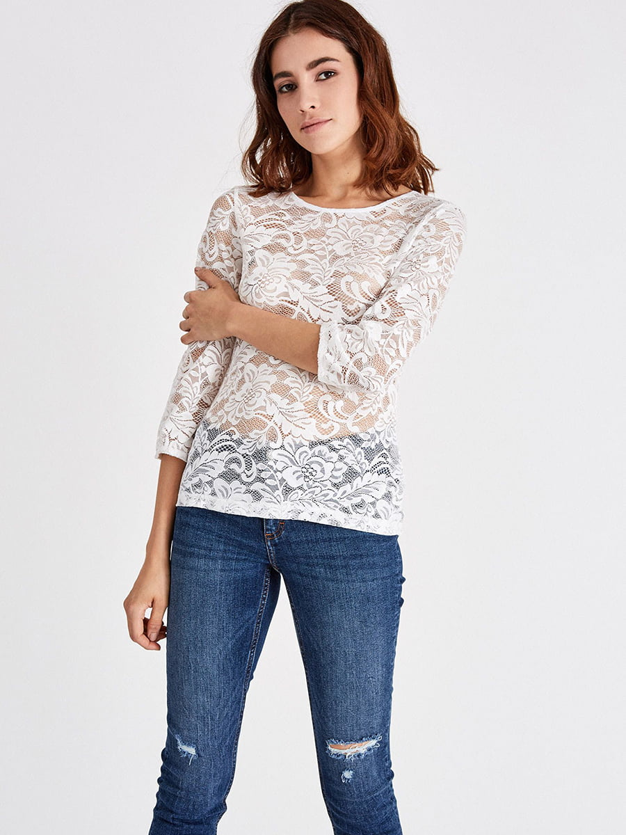 Блуза молочного цвета | 4879418