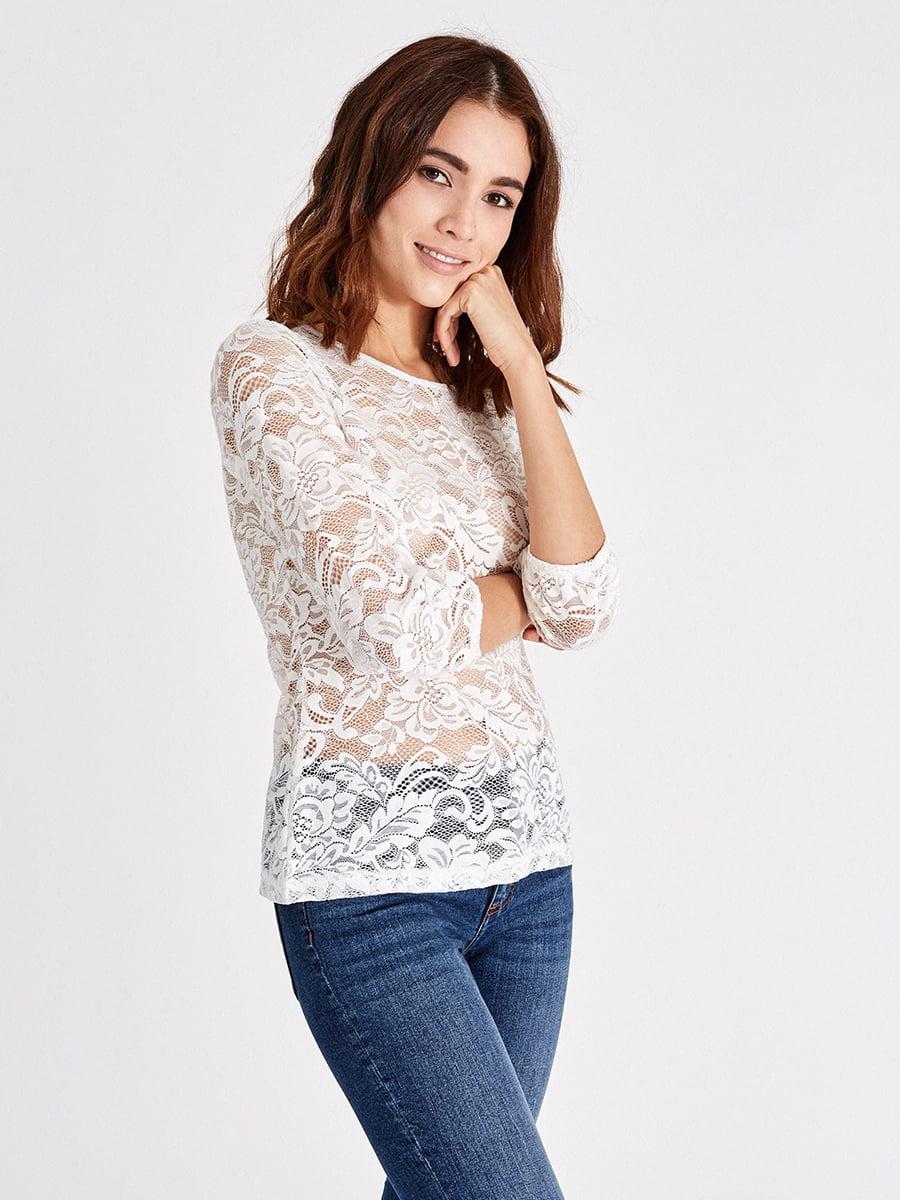 Блуза молочного цвета | 4879418 | фото 2