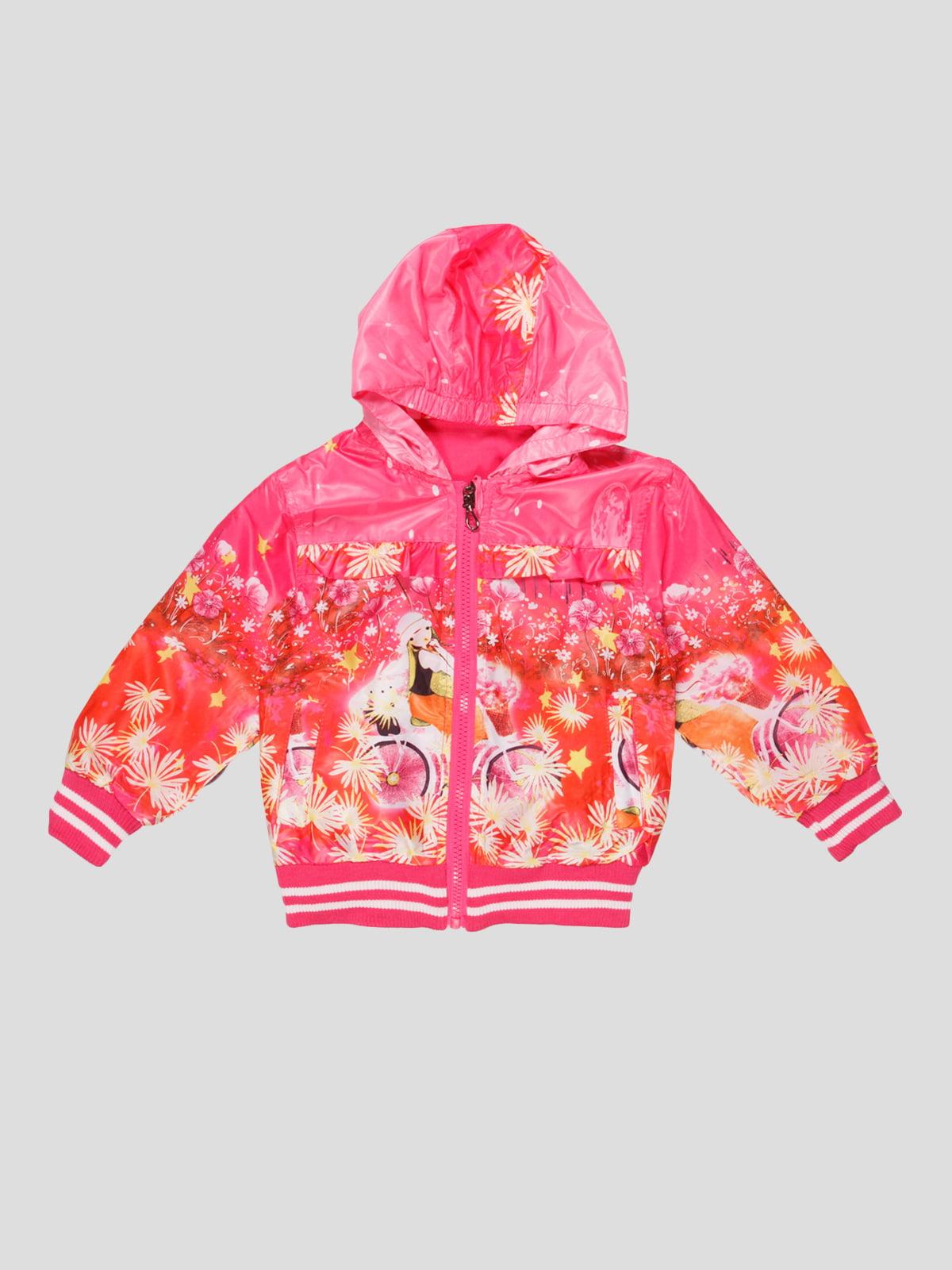 Вітрівка рожева з принтом | 4884947