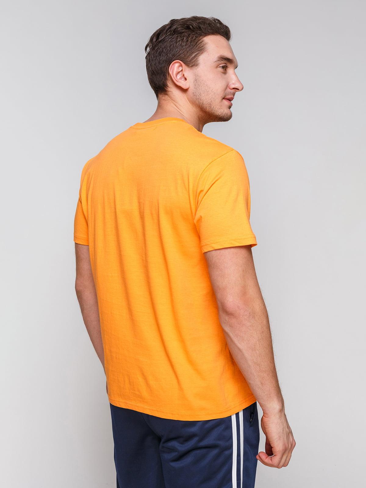 Футболка помаранчева з принтом   4854972   фото 2