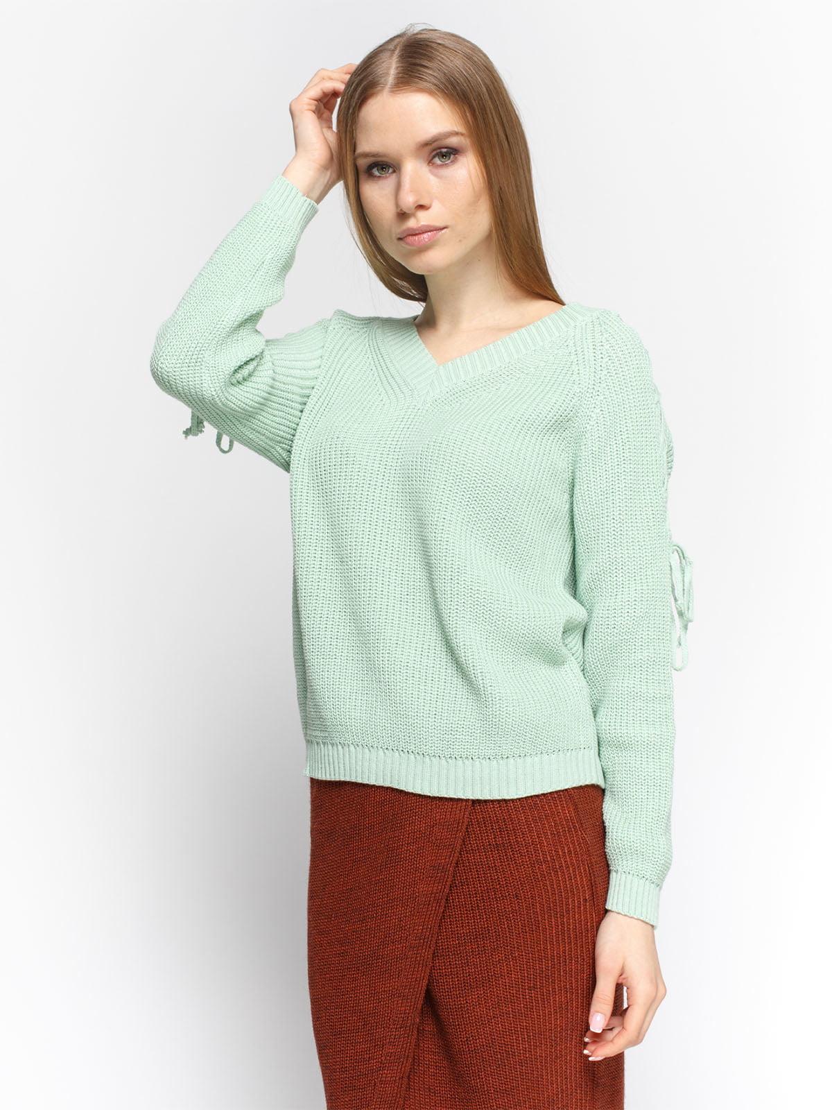 Пуловер м'ятного кольору | 4885875