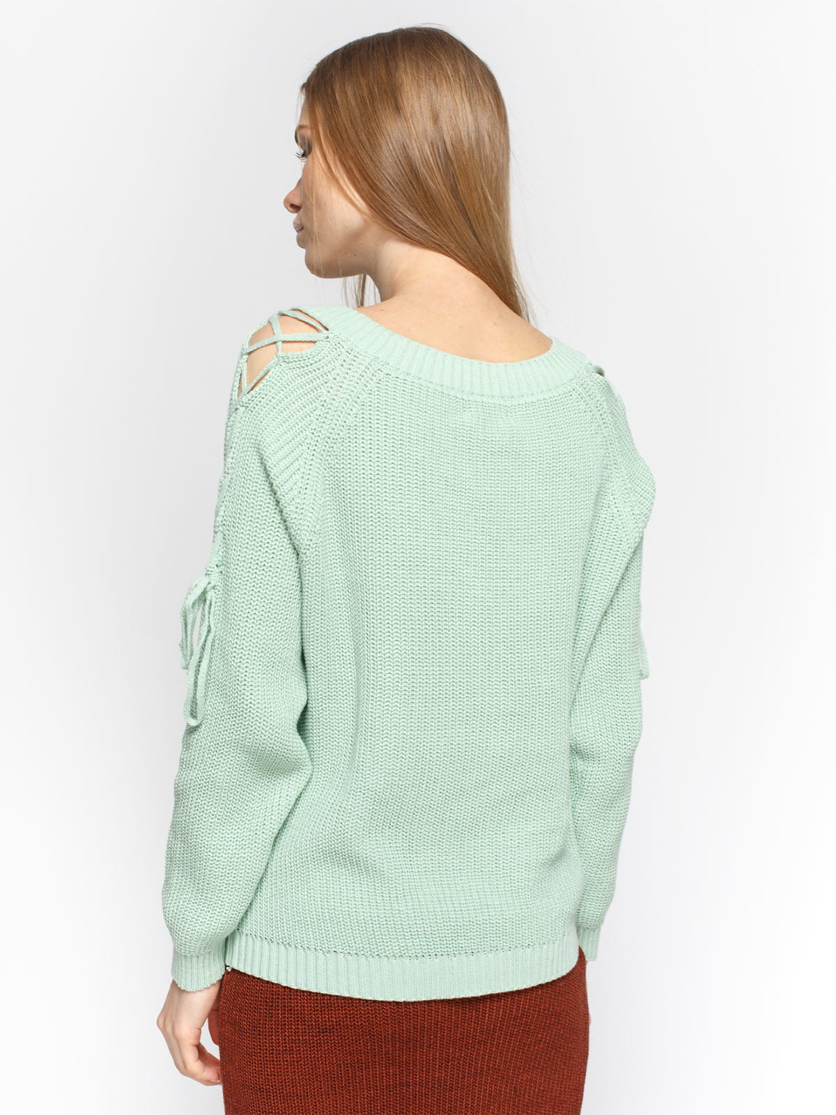 Пуловер м'ятного кольору | 4885875 | фото 2