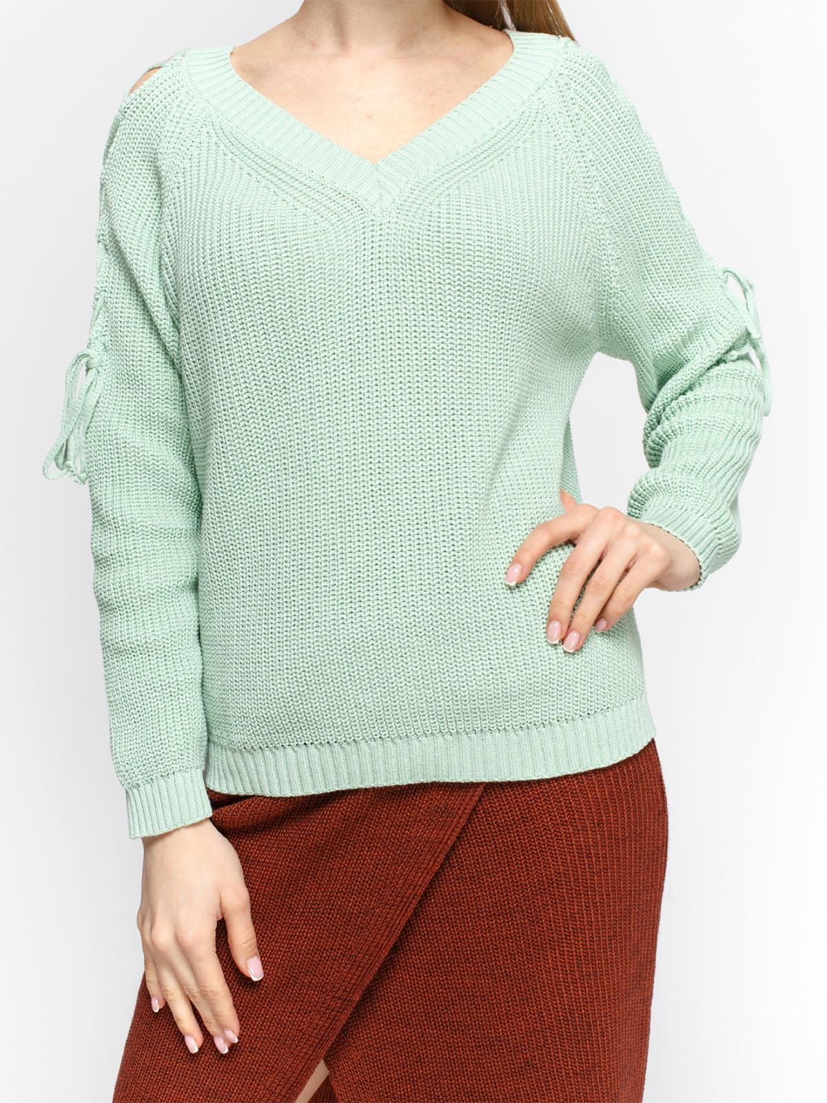 Пуловер м'ятного кольору | 4885875 | фото 3
