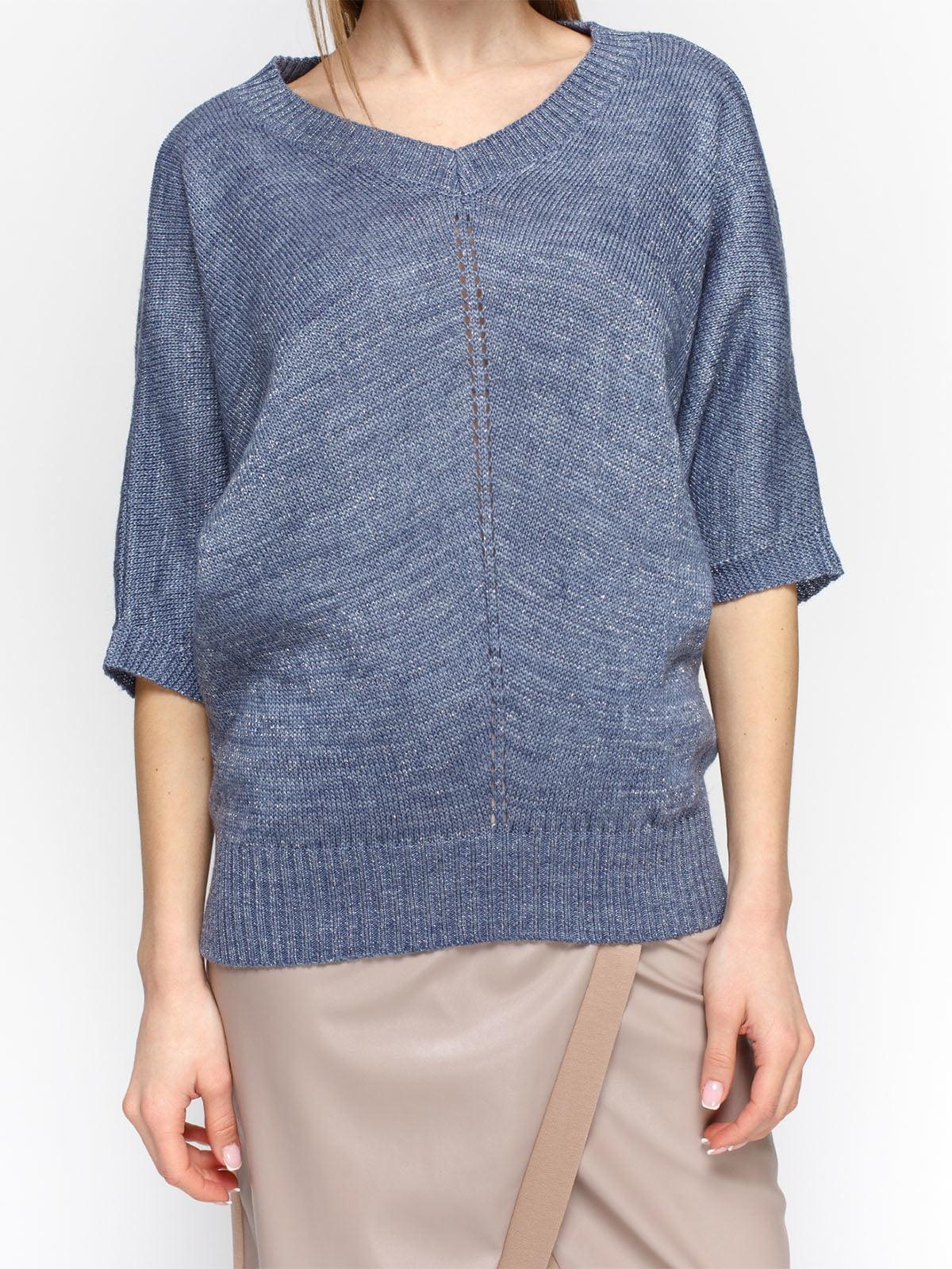 Пуловер синий | 4885871 | фото 3