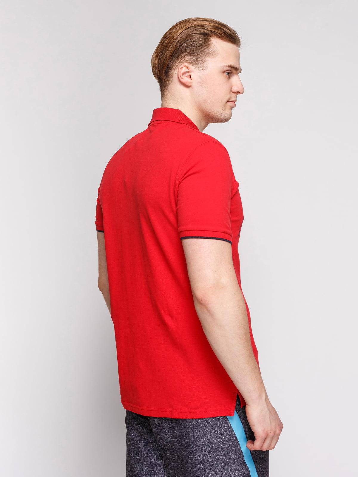 Футболка-поло червона з принтом | 4854984 | фото 2