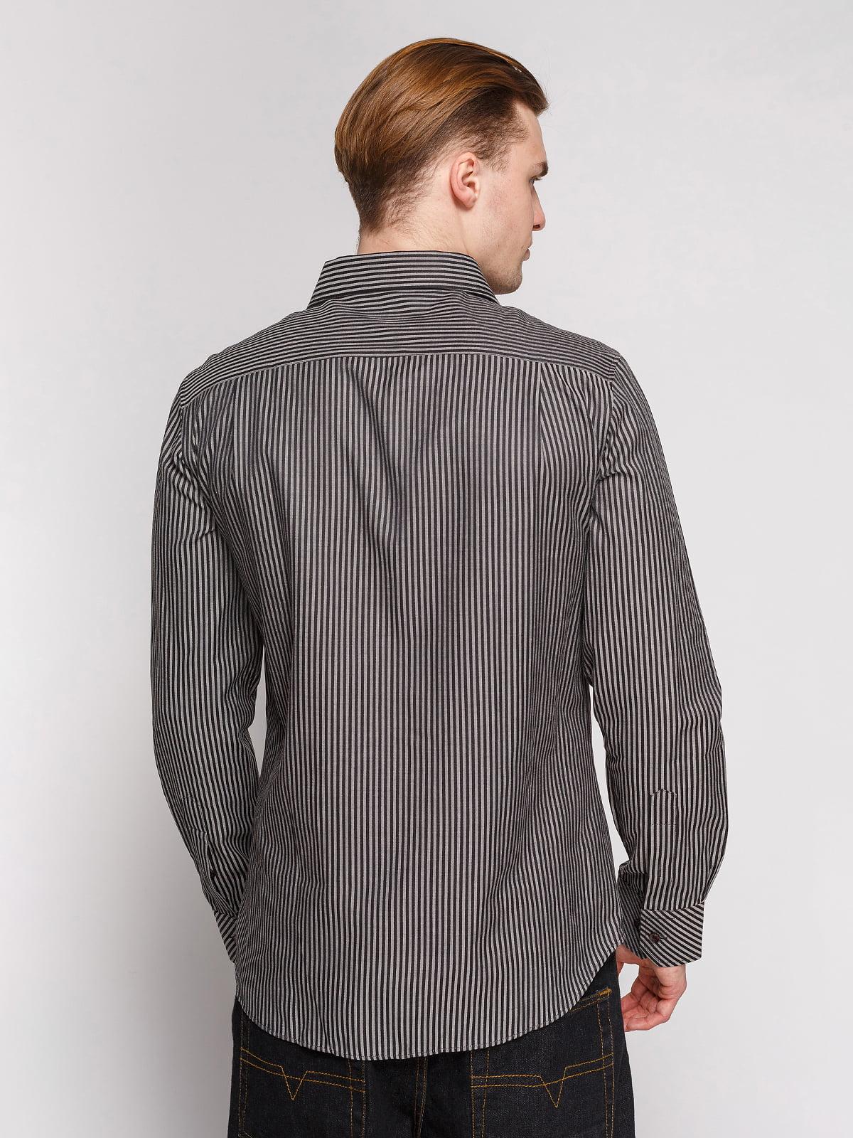 Сорочка сіра в чорну смужку | 4854845 | фото 2