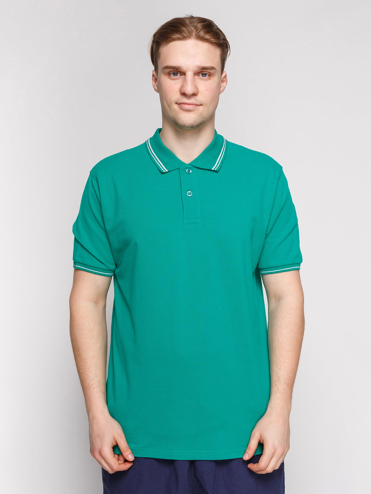 Футболка-поло зеленая | 4854926